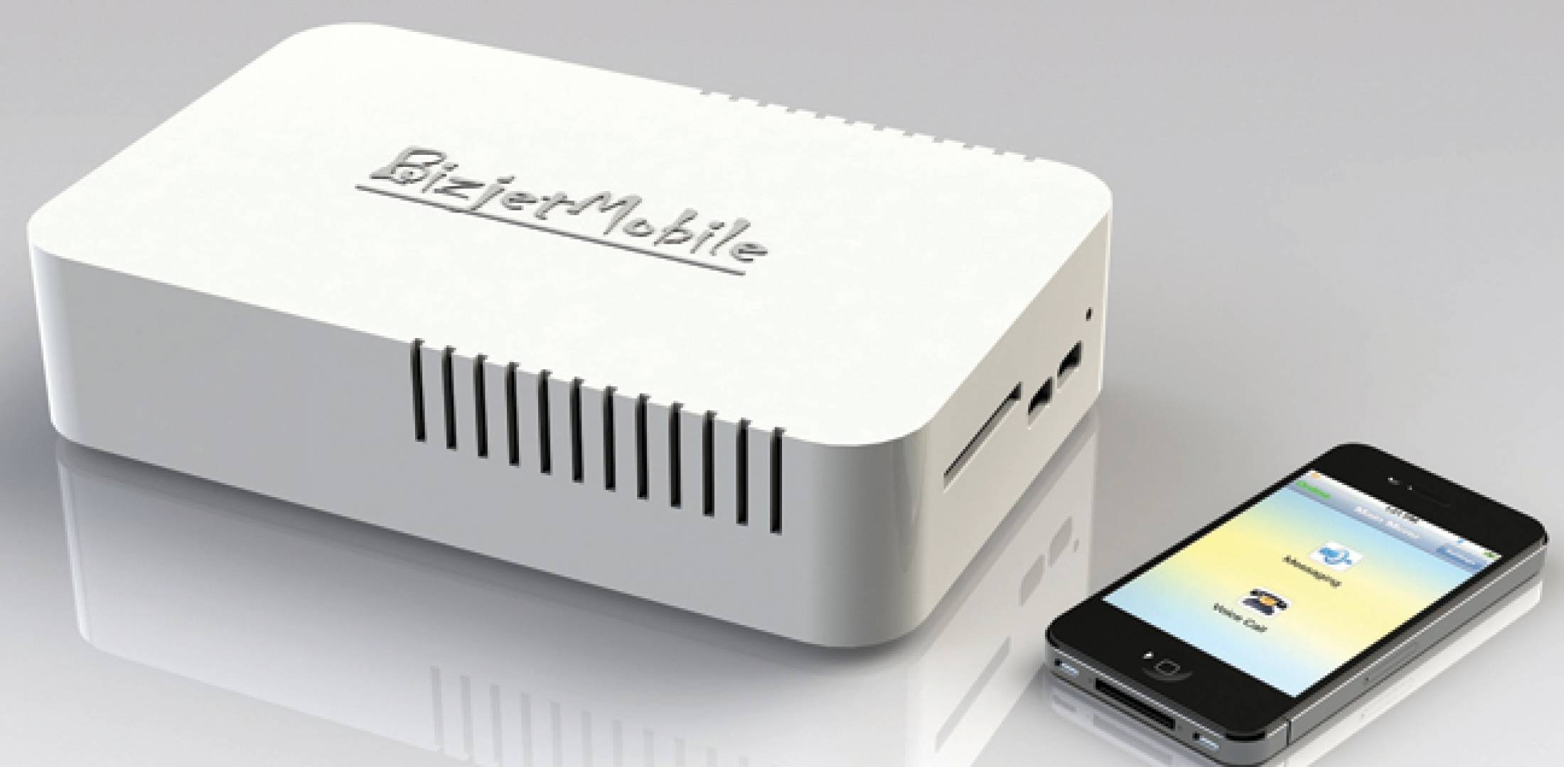 The BizjetMobile app allows users to access SMS text and e-mail via an onboard installed Aircell/Iridium system.