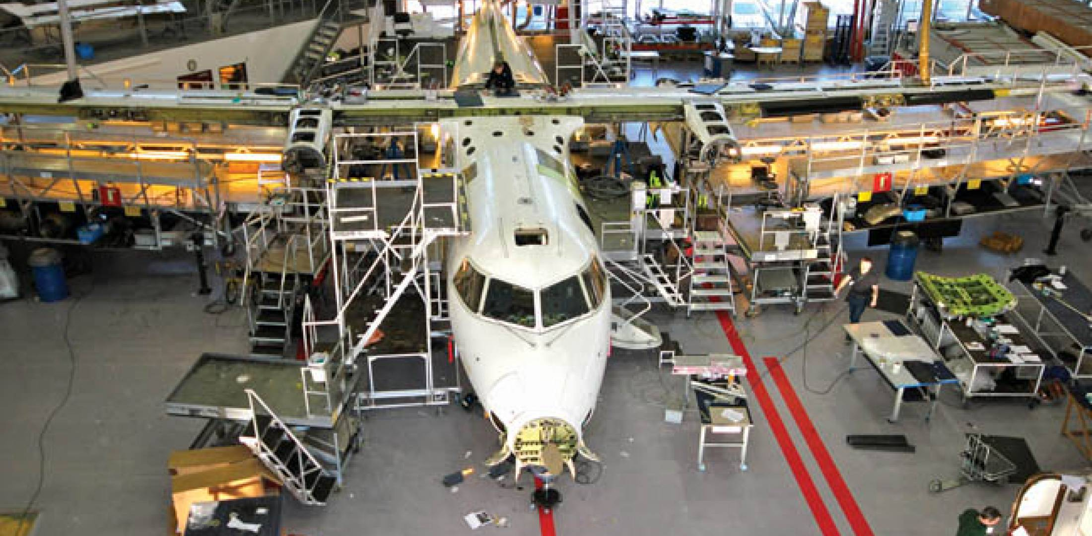 Bombardier Dash 8-100s receiving 80,000-flight cycle inspections under an extended-service program require replacement of about 100 components, including the horizontal stabilizer (aircraft up to MSN 342), and various actuators, manifolds, pressure switches, valves and other components.