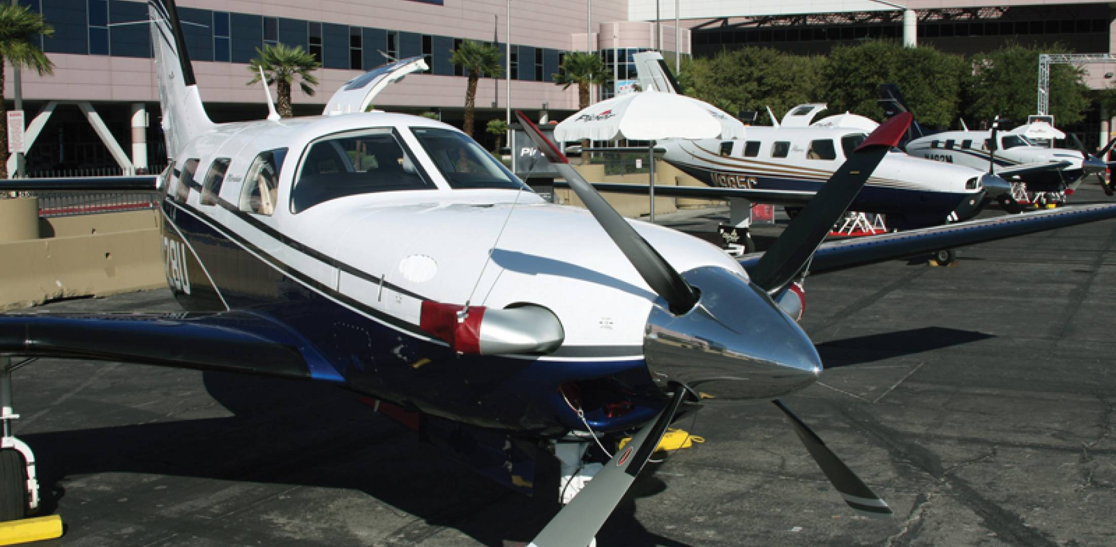 Piper aircraft on NBAA static display
