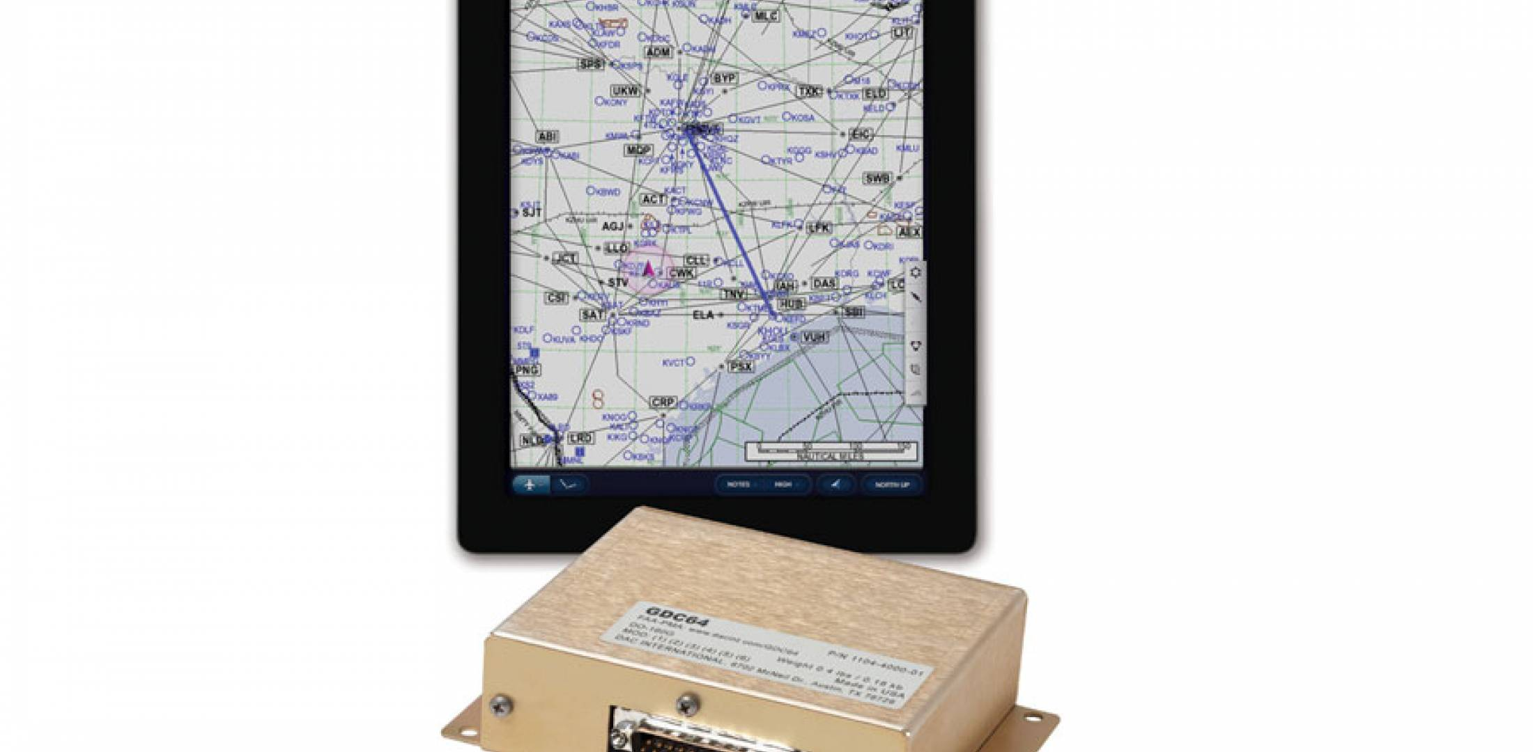 DAC International's GDC64 taps into aircraft sensors to deliver data  to creative new iPad apps.
