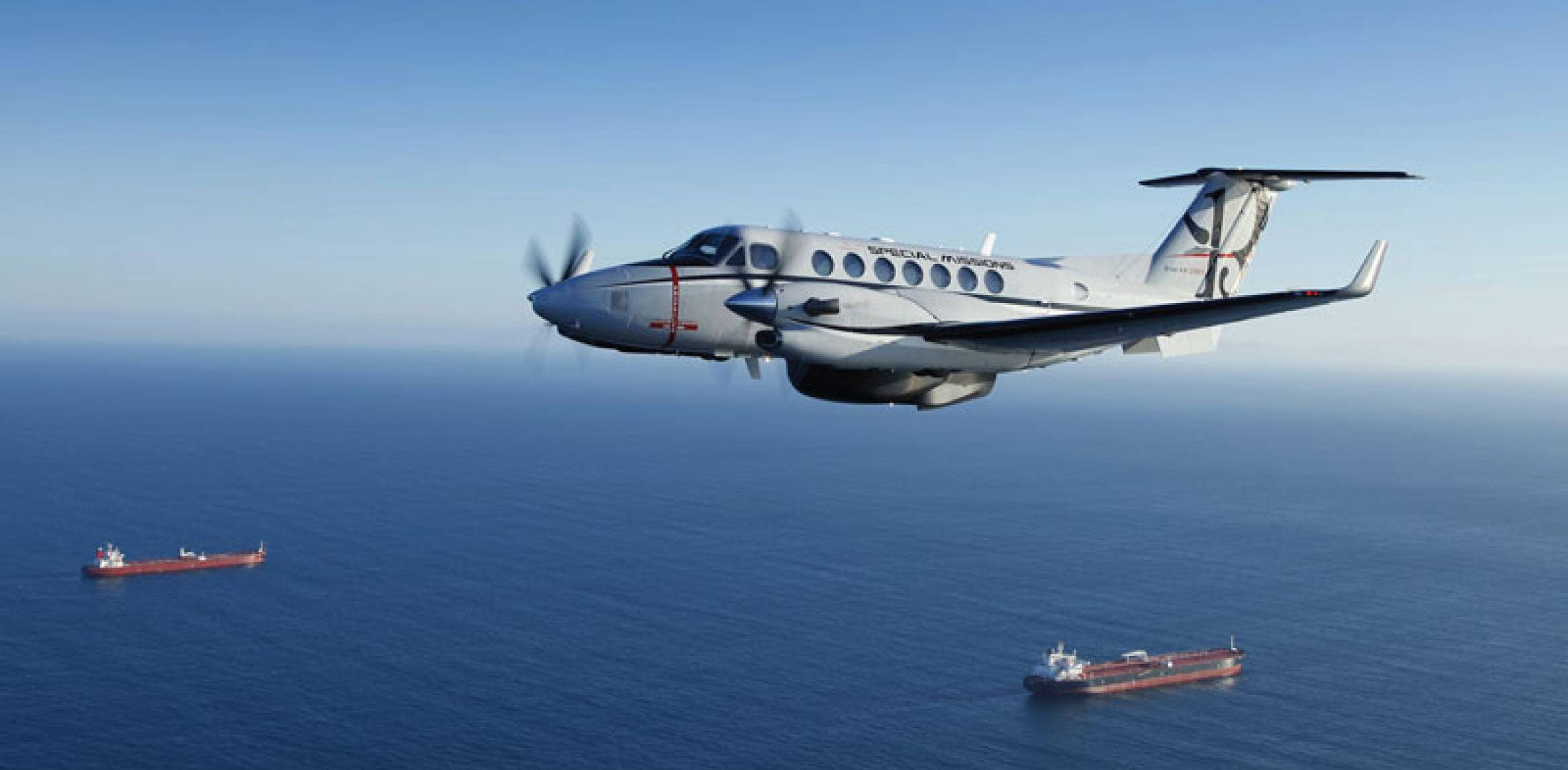 Special-missions King Air 350ER.