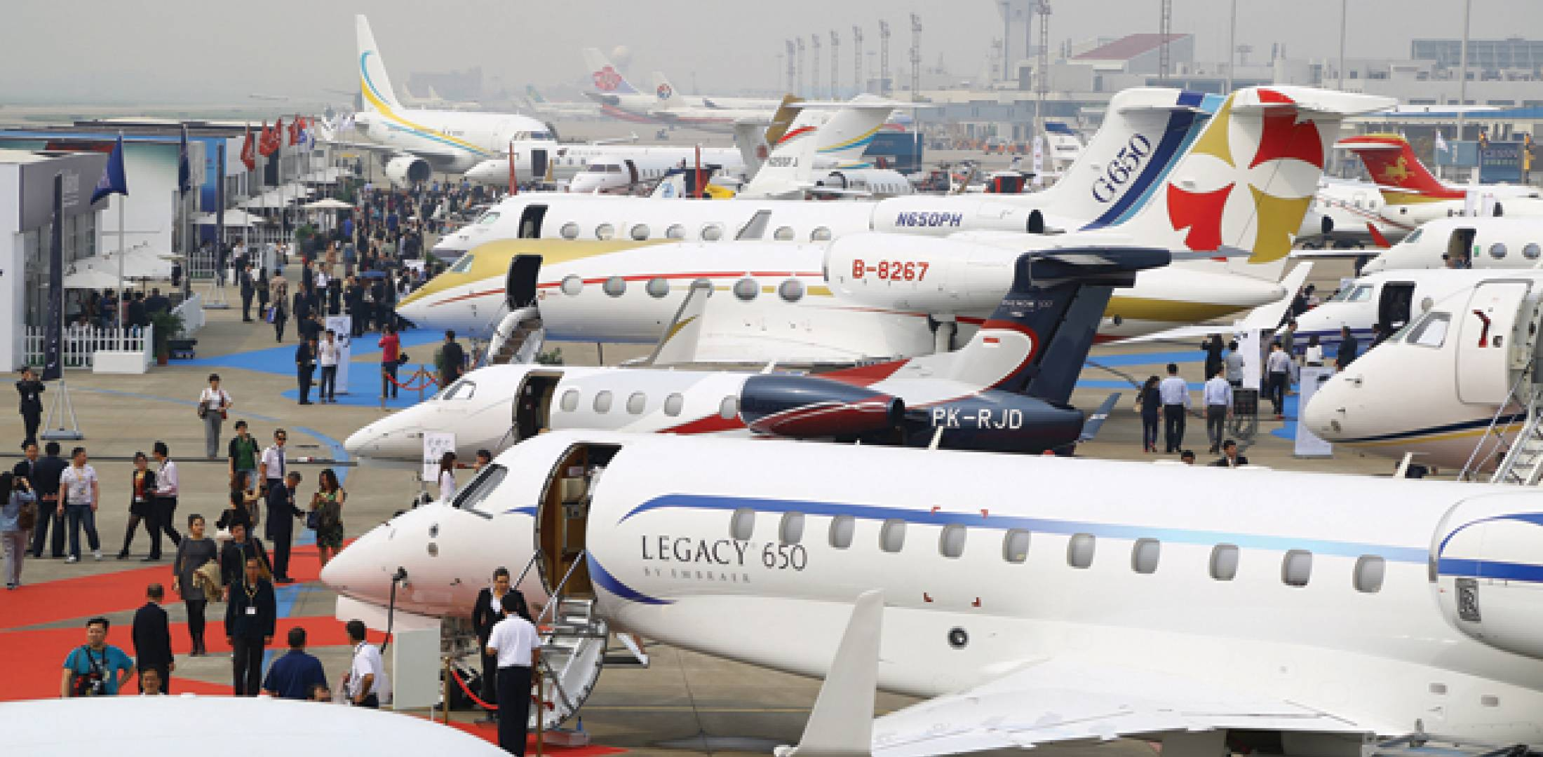 The Shanghai Hawker Pacific Business Aviation Service Centre at Hongqiao hosted 34 aircraft, seven more than at last year's event.