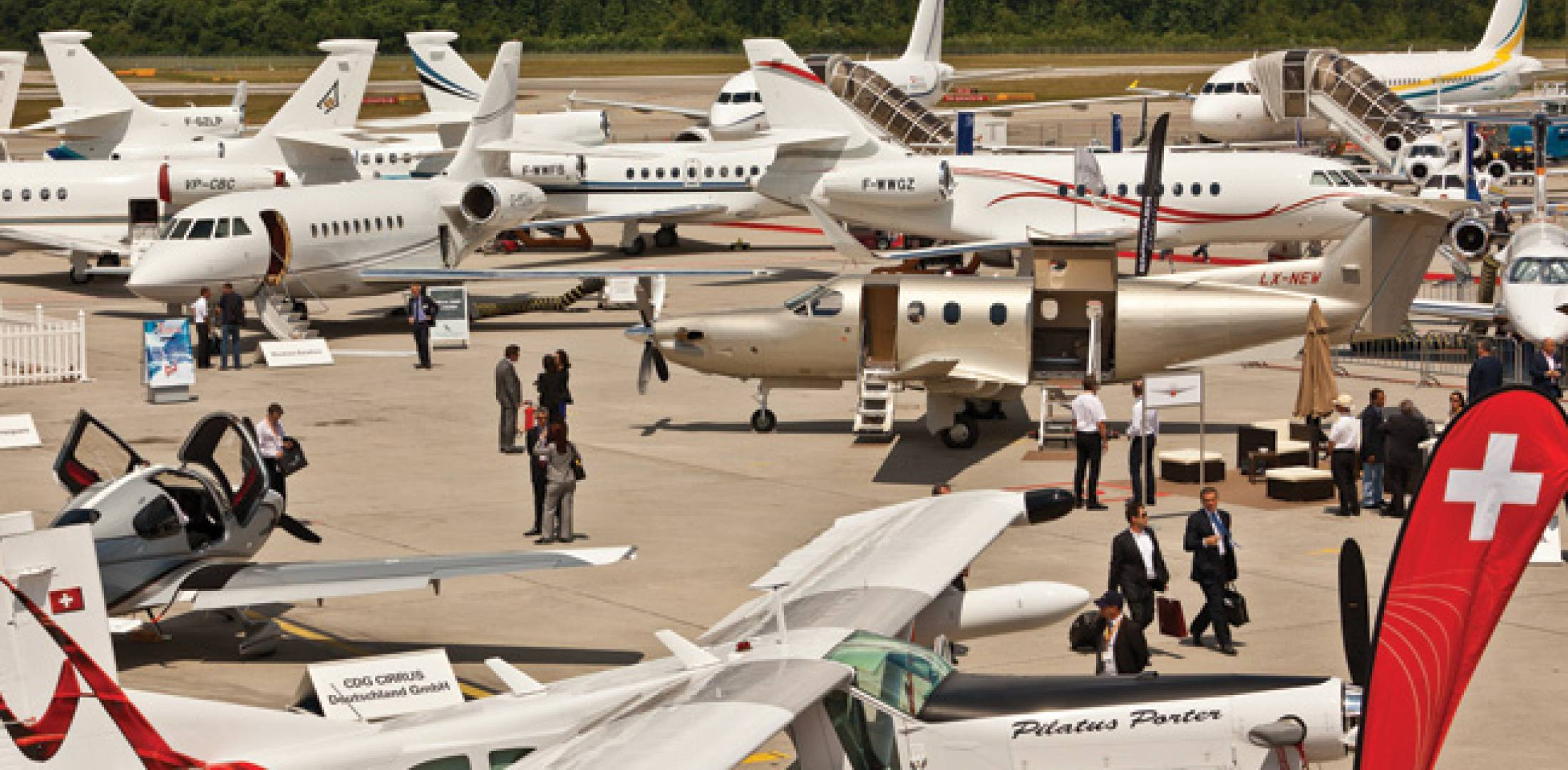 The 62 aircraft on static display at last year's Ebace contrasted starkly with the economic gloom, and organizers expect this year's show to have a similar turnout.