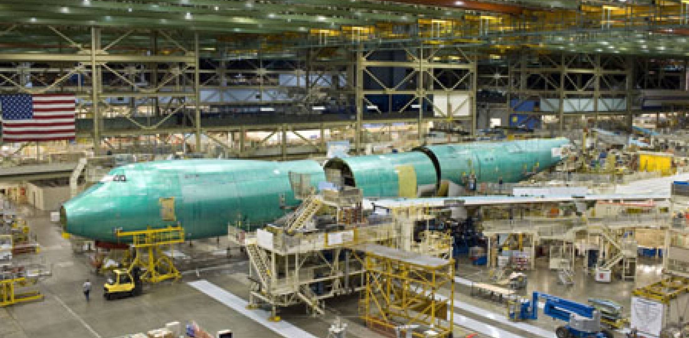Boeing 747-8 assembly