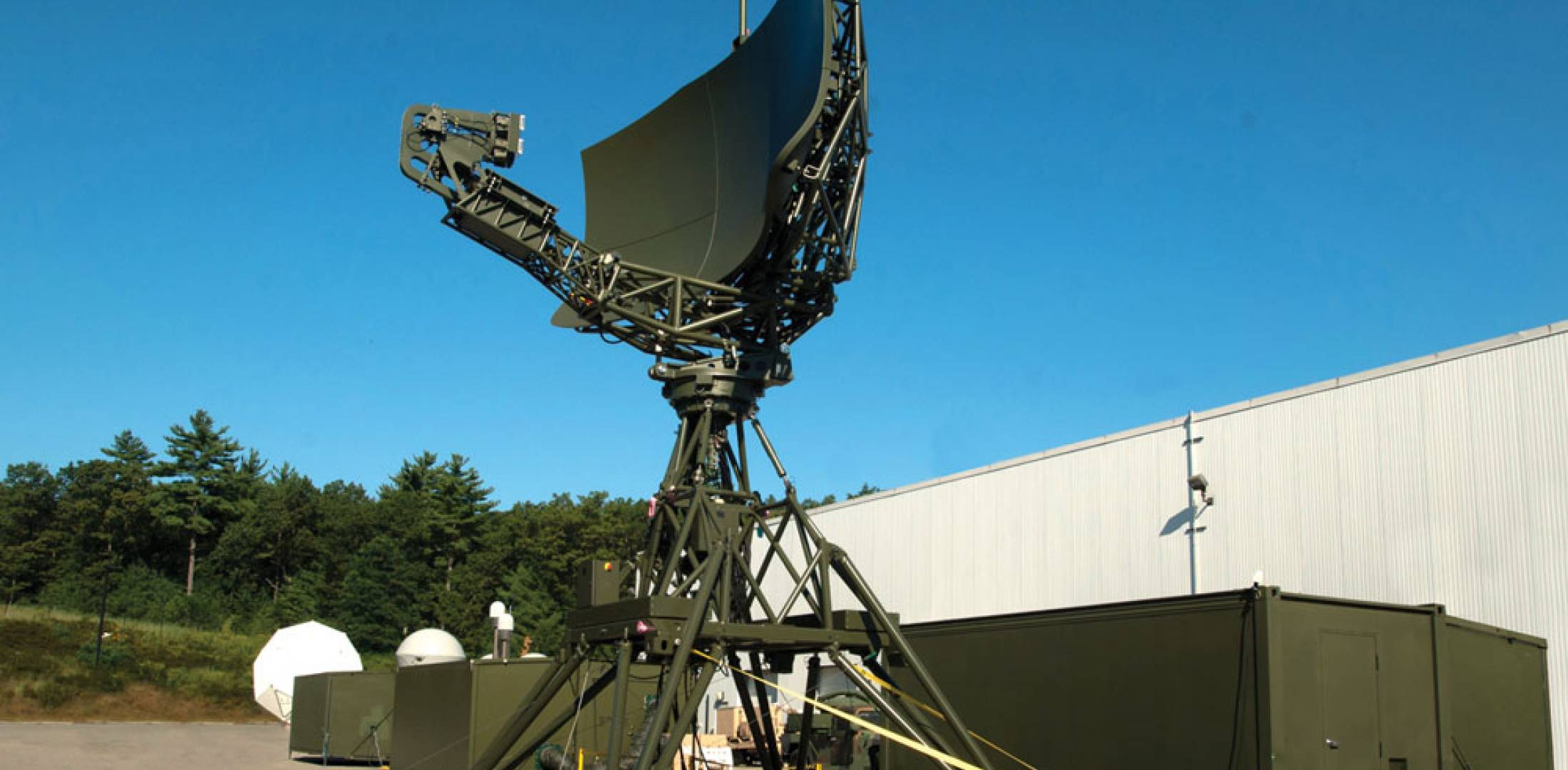 The Raytheon deployable radar approach control (D-RAPCON) system is a modular ATC system that can be transported by four C-130s.