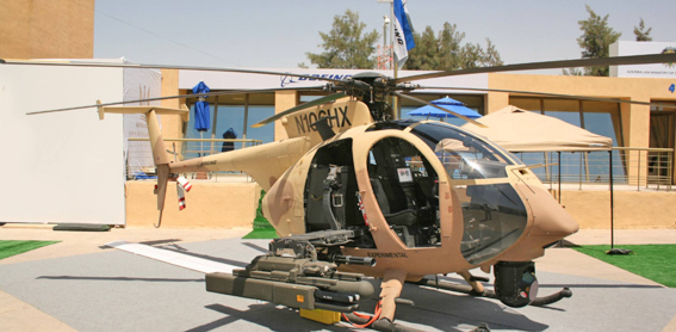 Boeing took its AH-6i helicopter demonstrator to Amman, Jordan, in May, and c...