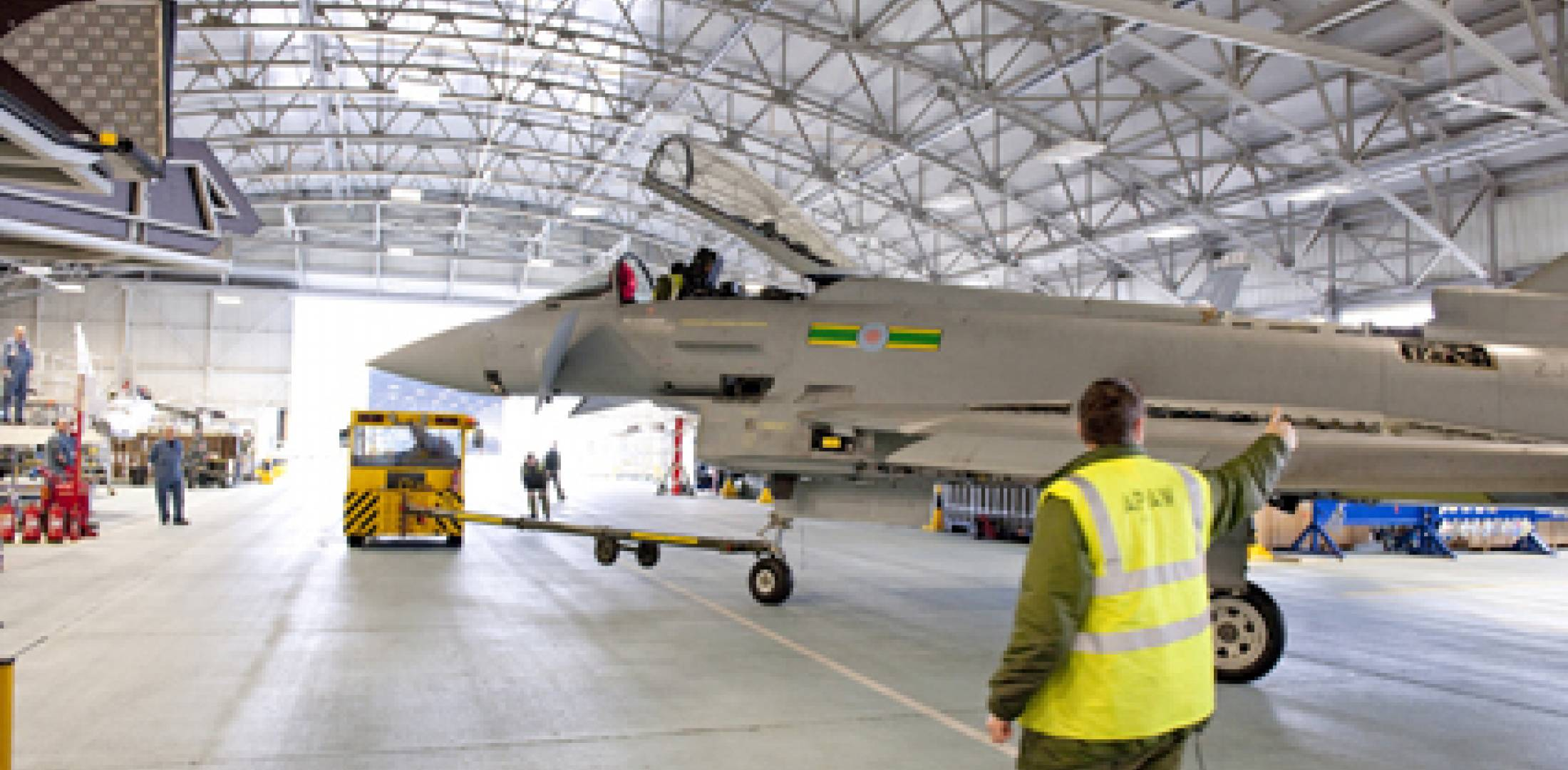 Early block RAF Eurofighter Typhoons are undergoing the R2 conversion process...