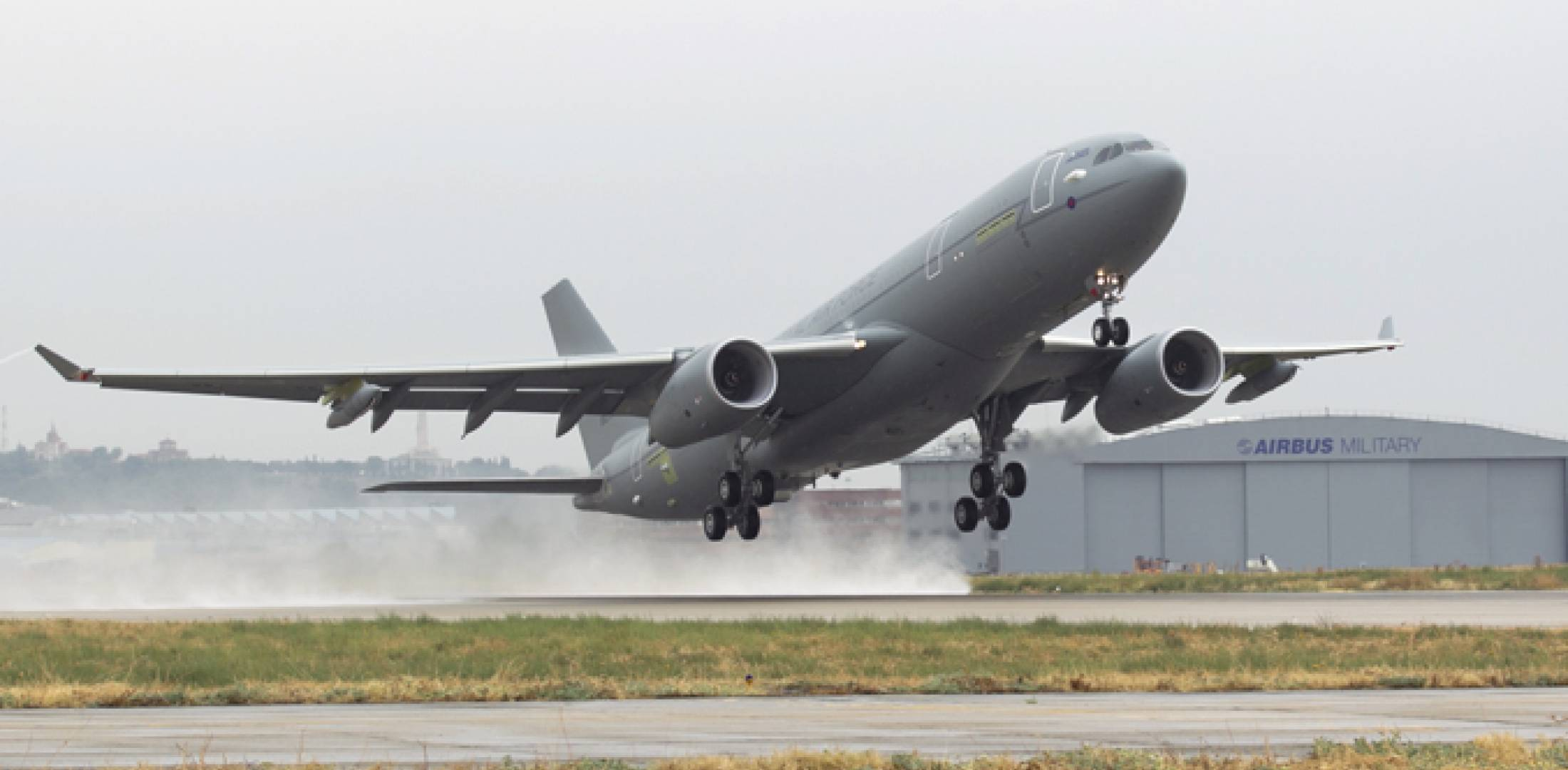 The first A330 future strategic tanker aircraft for the UK Royal Air Force ma...