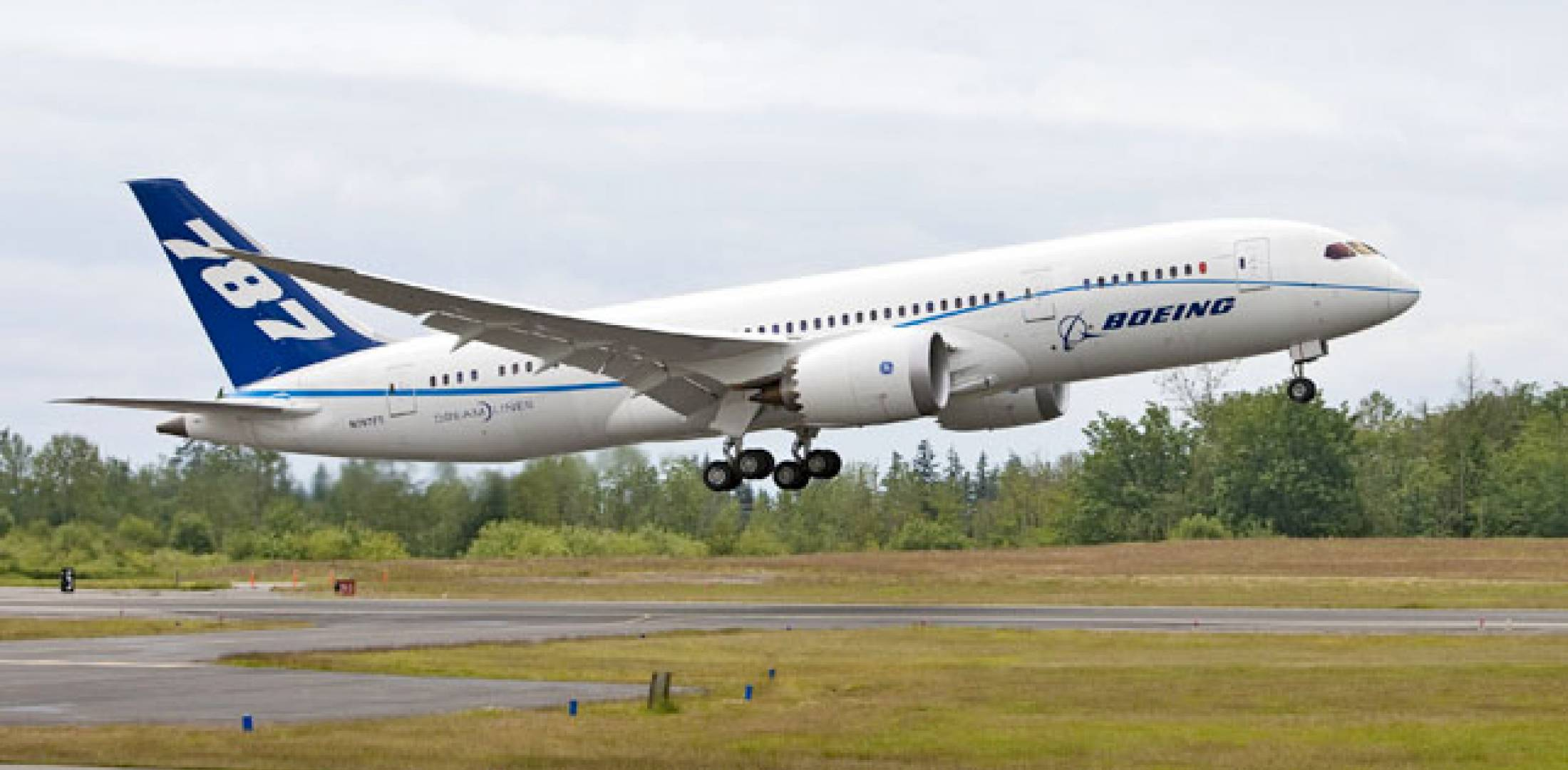 The fifth Boeing 787 and the first Dreamliner powered with GE engines took to...