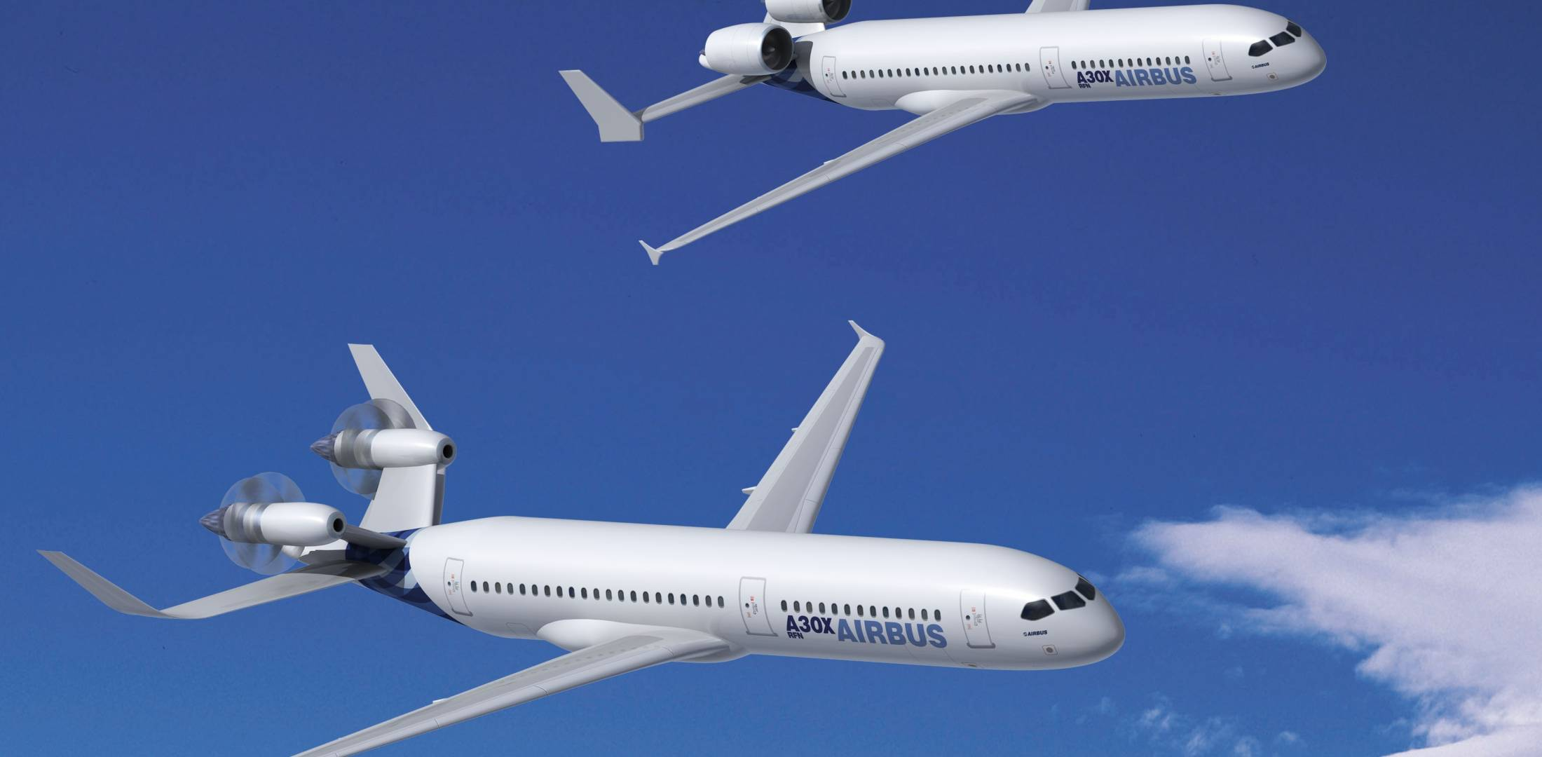 Research and development efforts at Airbus are now focusing on areas such as laminar-flow aerodynamics and open-rotor engine applications.
