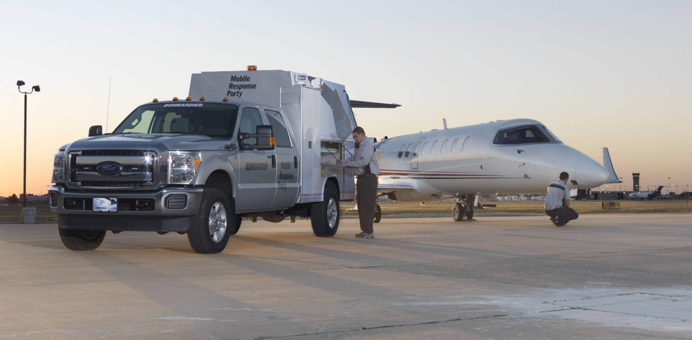 Bombardier will deploy mobile response parties to seven regions over the next two months.