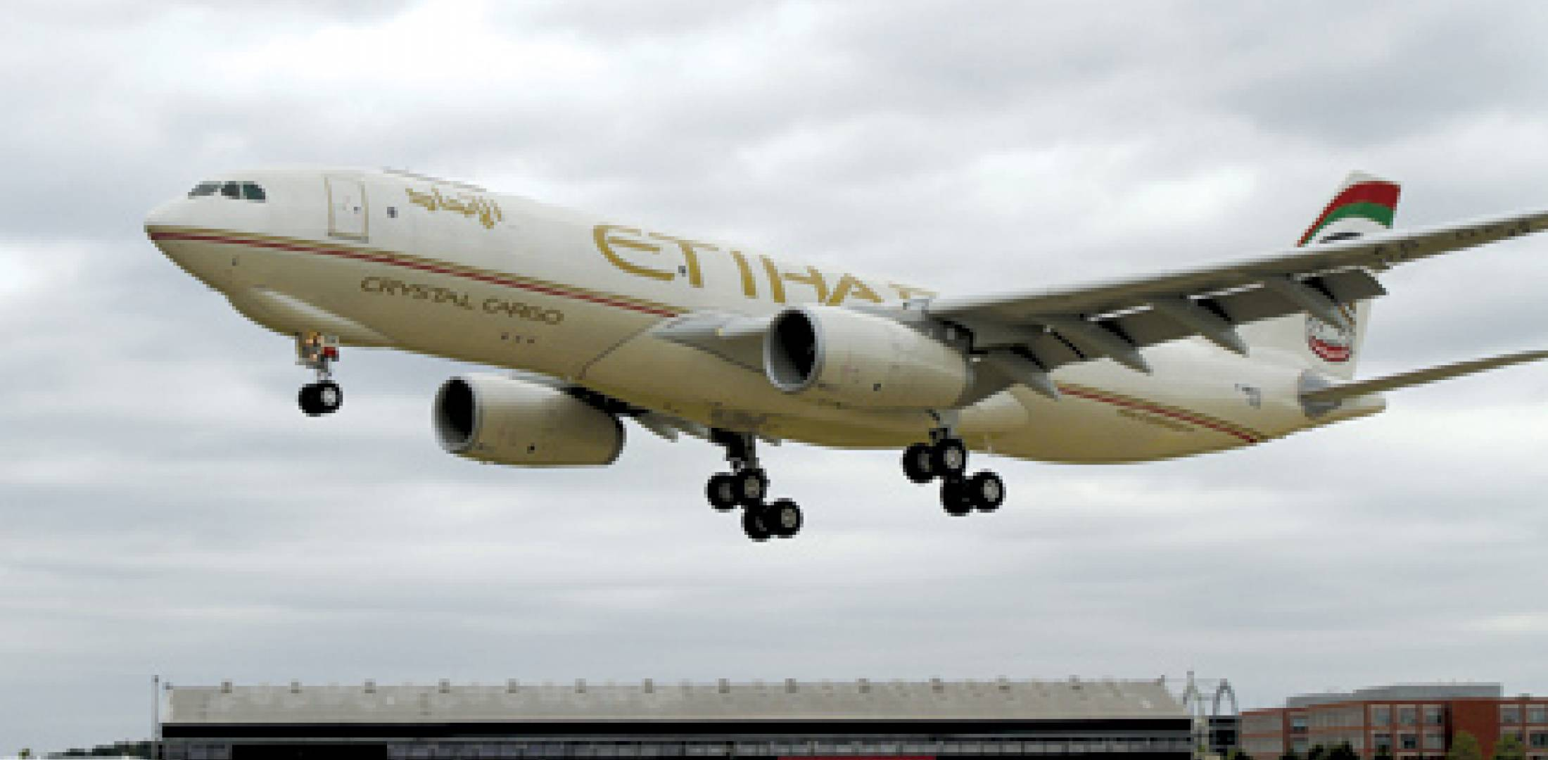 Etihad Airways' new Airbus A330-300 freighter touches down to take its prime ...