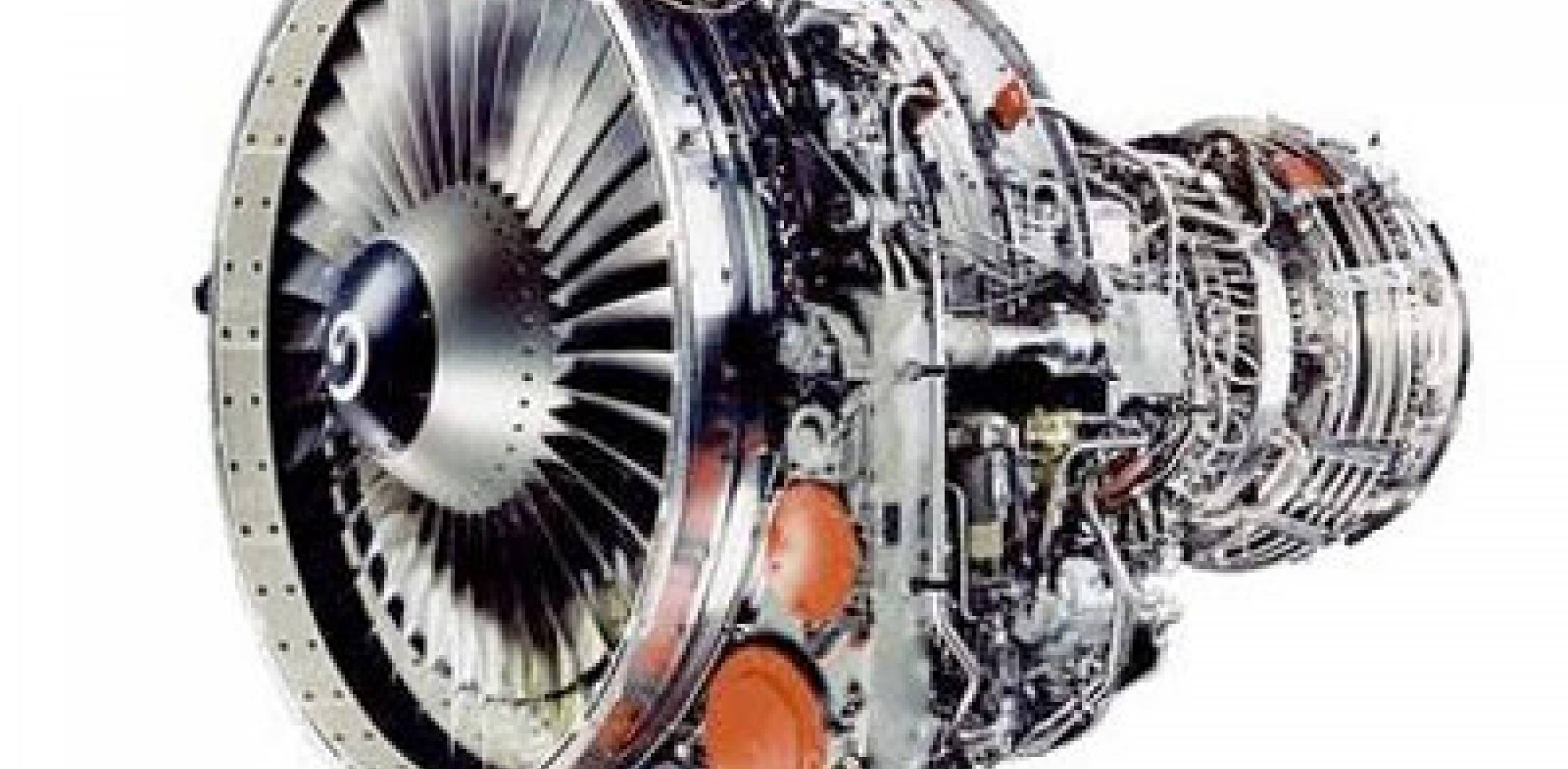 The CFM56-3 turbofan engine.