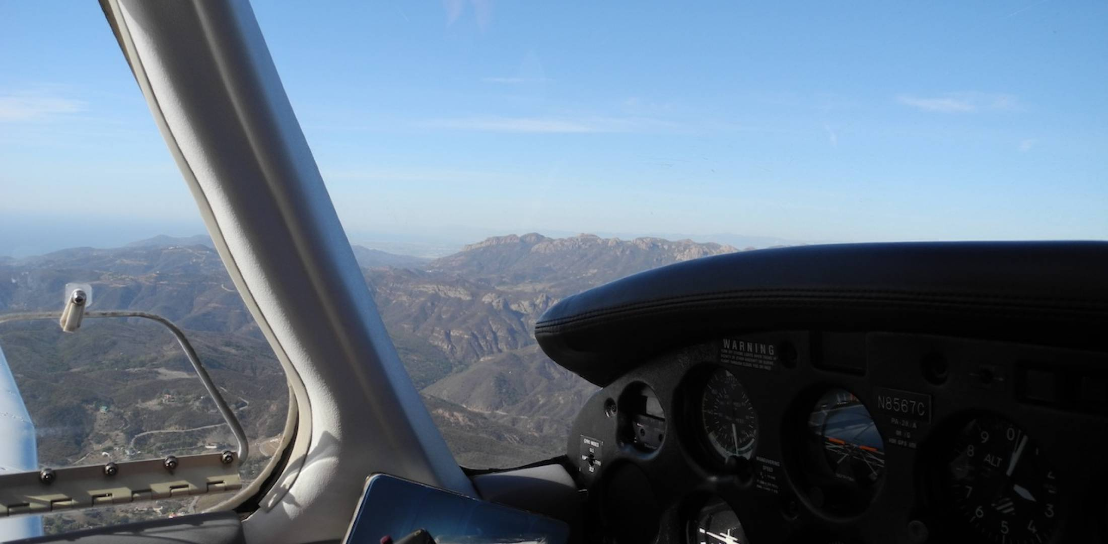 Flying over the Santa Monica Mountains