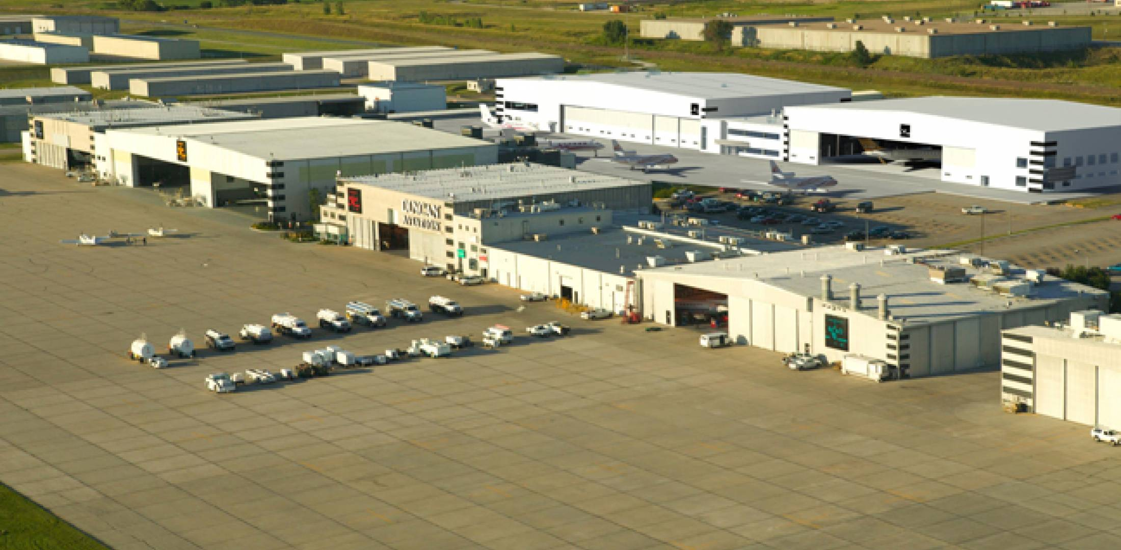 This artist's rendering depicts Duncan Aviation's planned MRO facility at Lincoln.