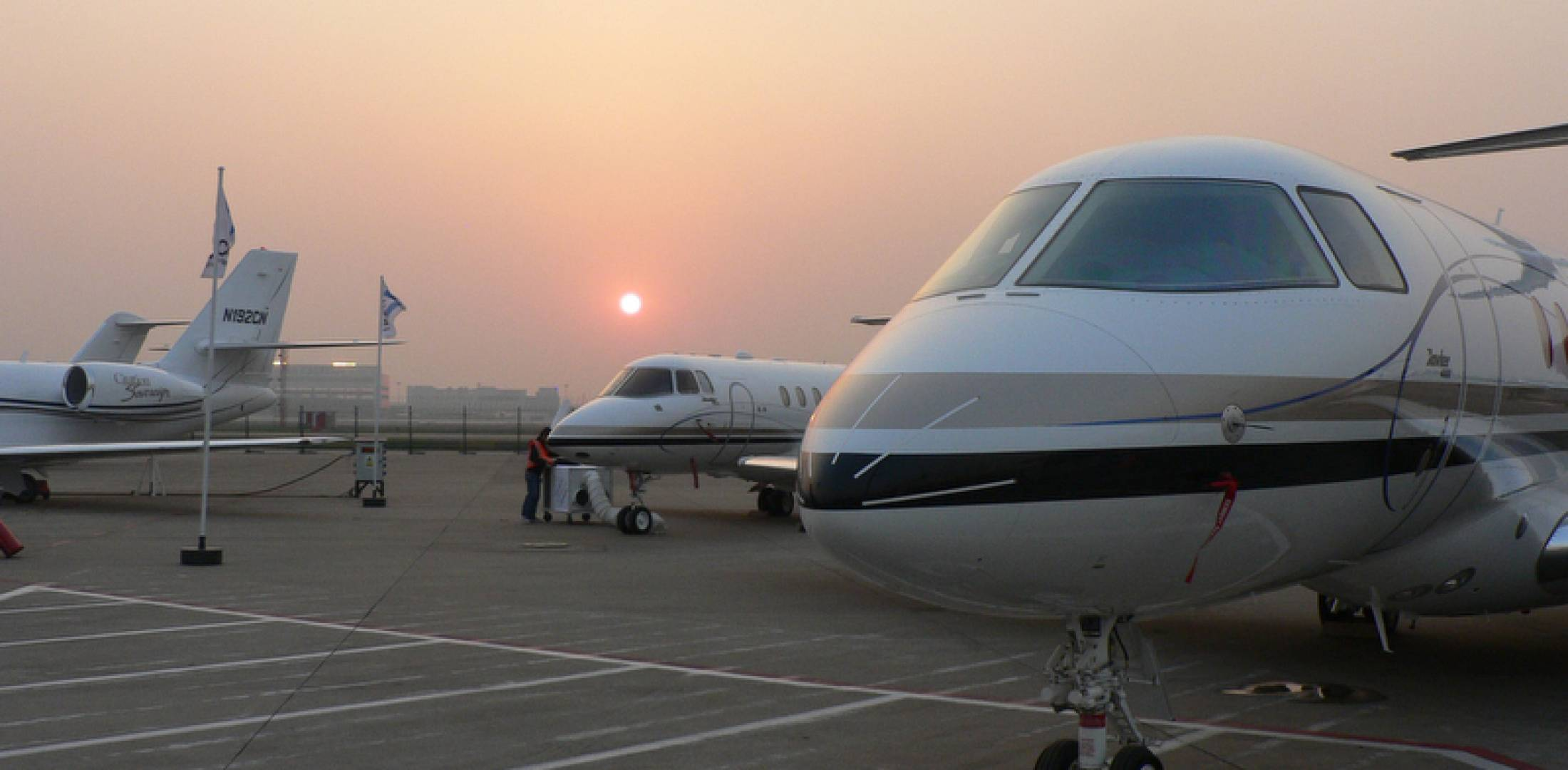 Hawker 4000 at ABACE 2012 in Shanghai.