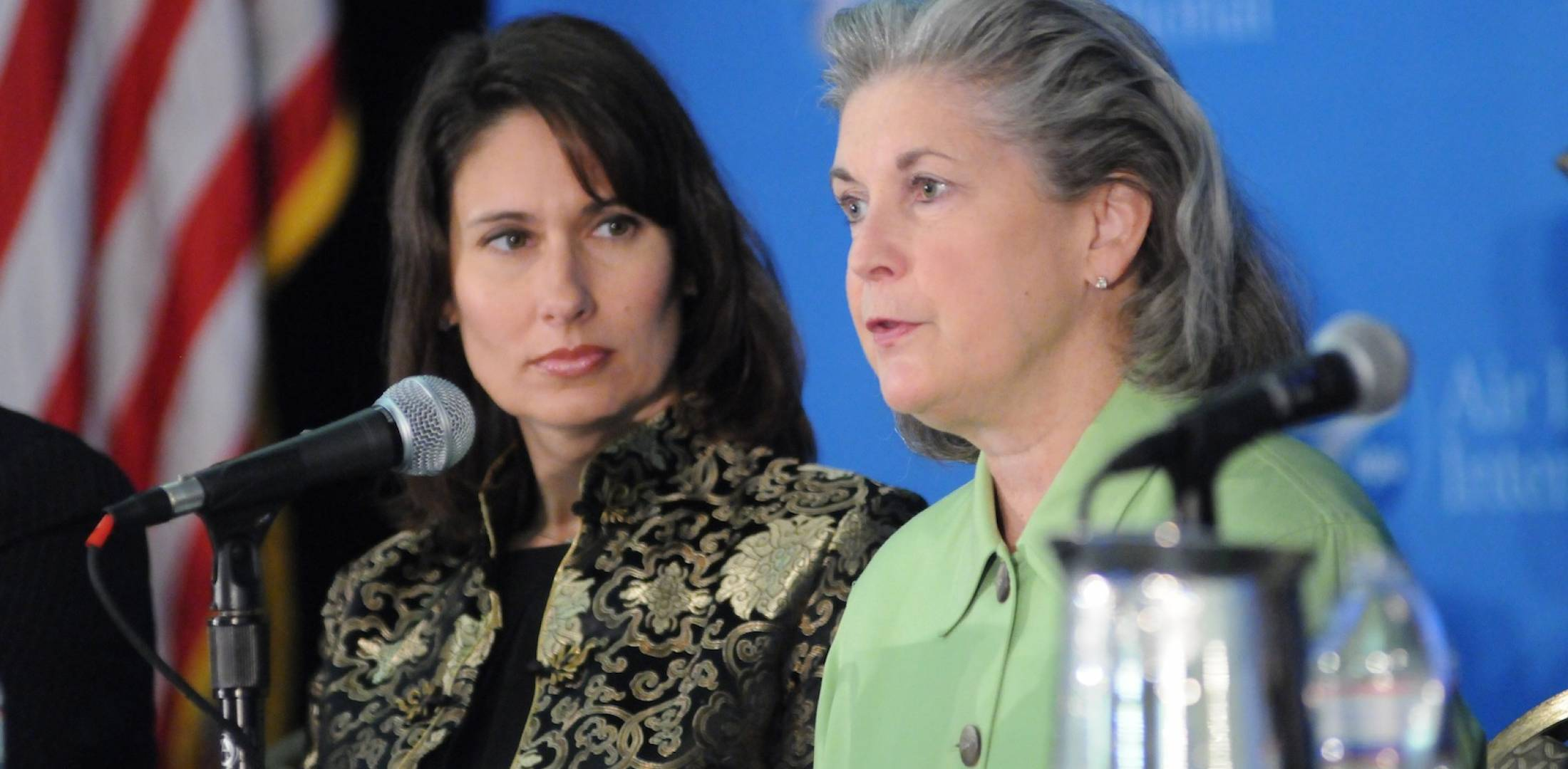 NTSB Chairman Deborah Hersman, left, and Margaret Gilligan, FAA associate administrator for aviation safety.