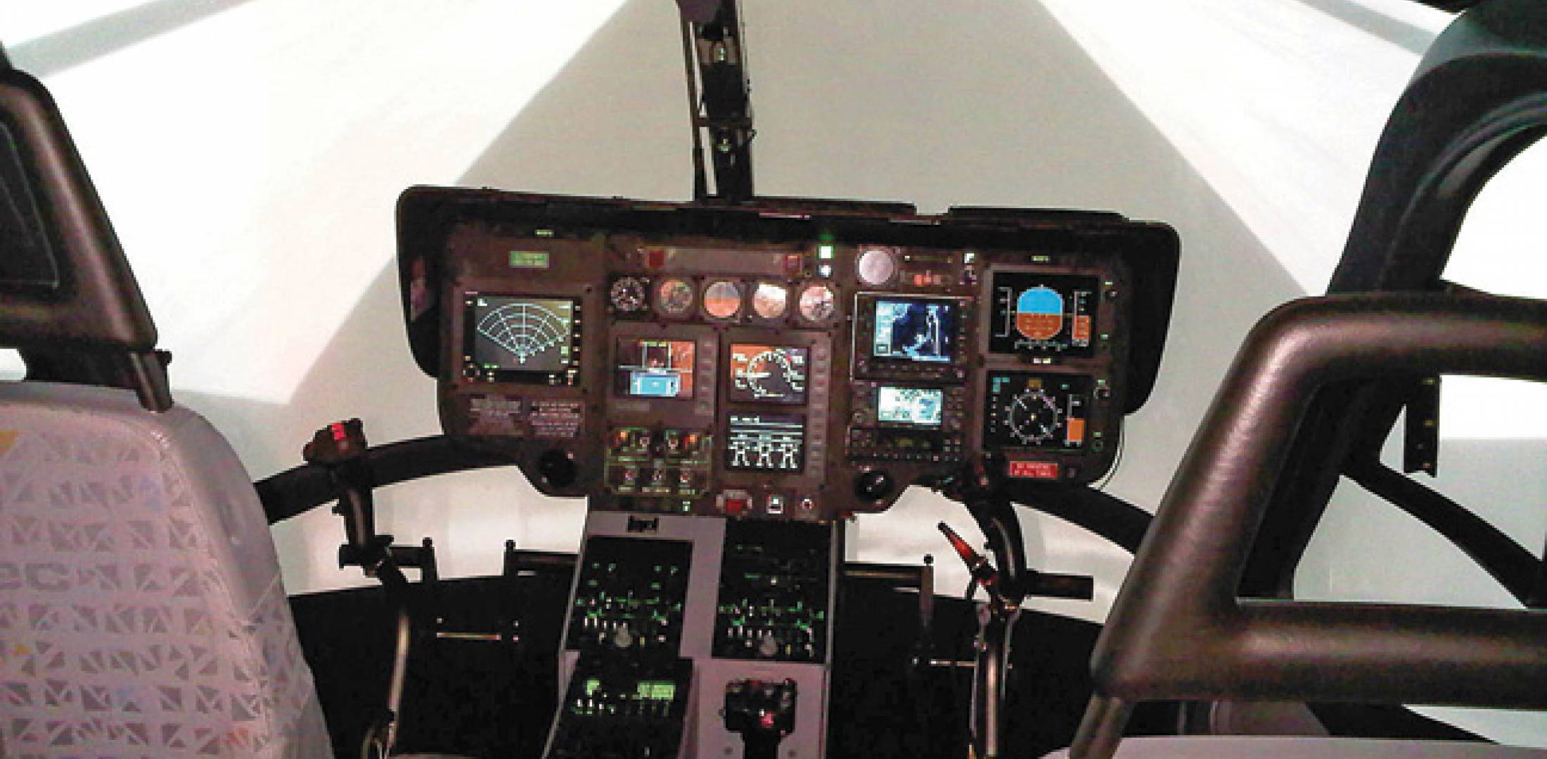 FlightSafety's level-D full motion simulator for the Eurocopter EC135 provides realistic training through Vital X graphics and five-projector technology. The EC135 sim, one of the busiest at FlightSafety's Dallas training center, was built with input from Metro Aviation. In addition to EMS and offshore scenario-based training, the simulator provides training on inadvertent IMC and flying in challenging areas.