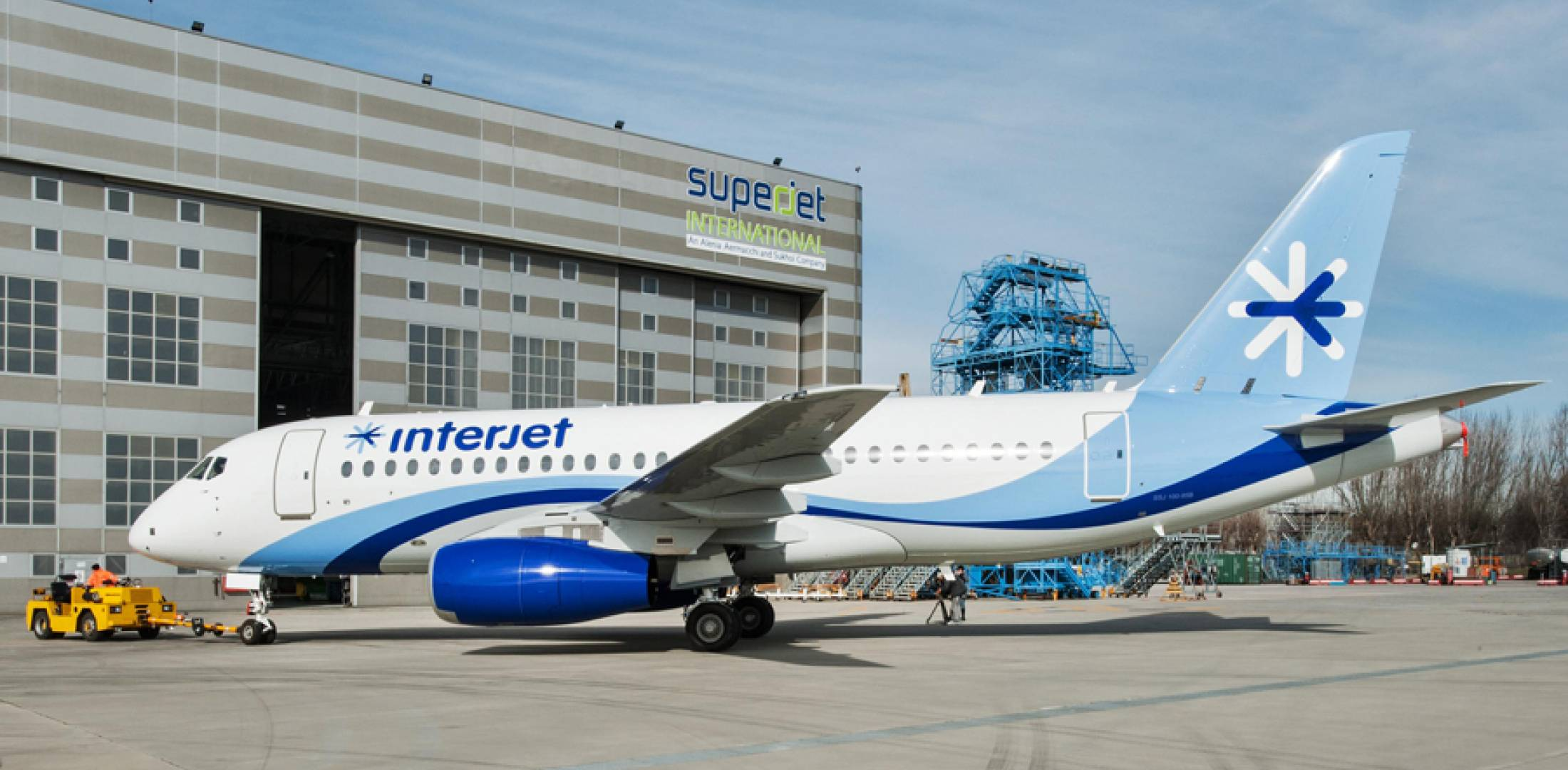 Mexico's Interjet expects to take delivery of its first Sukhoi SSJ100 this month.