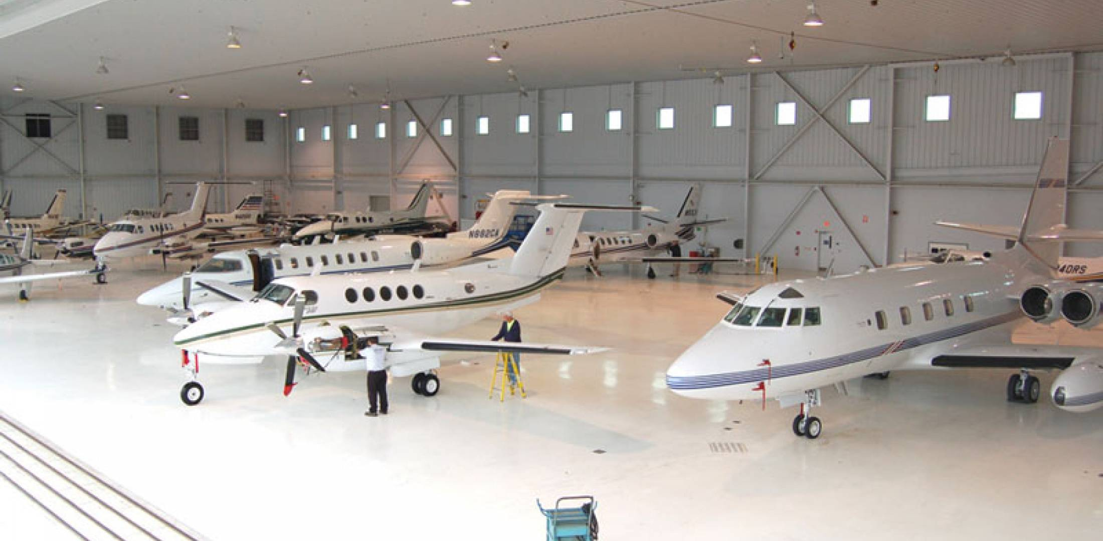 J.A. Air Center provides maintenance for a line of business aircraft, from pisto