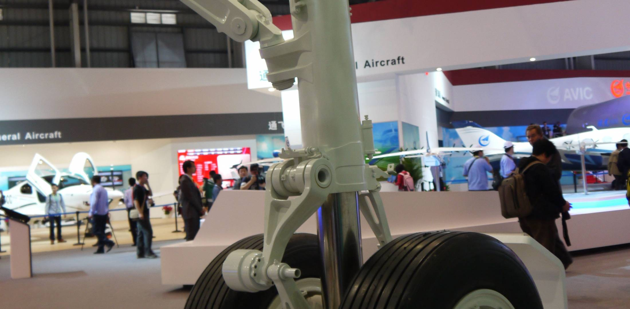 Liebherr Aerospace is to provide landing gear and air conditioning packs for China's new C919 twinjet, for which Comac signed 50 more commitments at Airshow China 2012. (Photo: Amy Laboda)