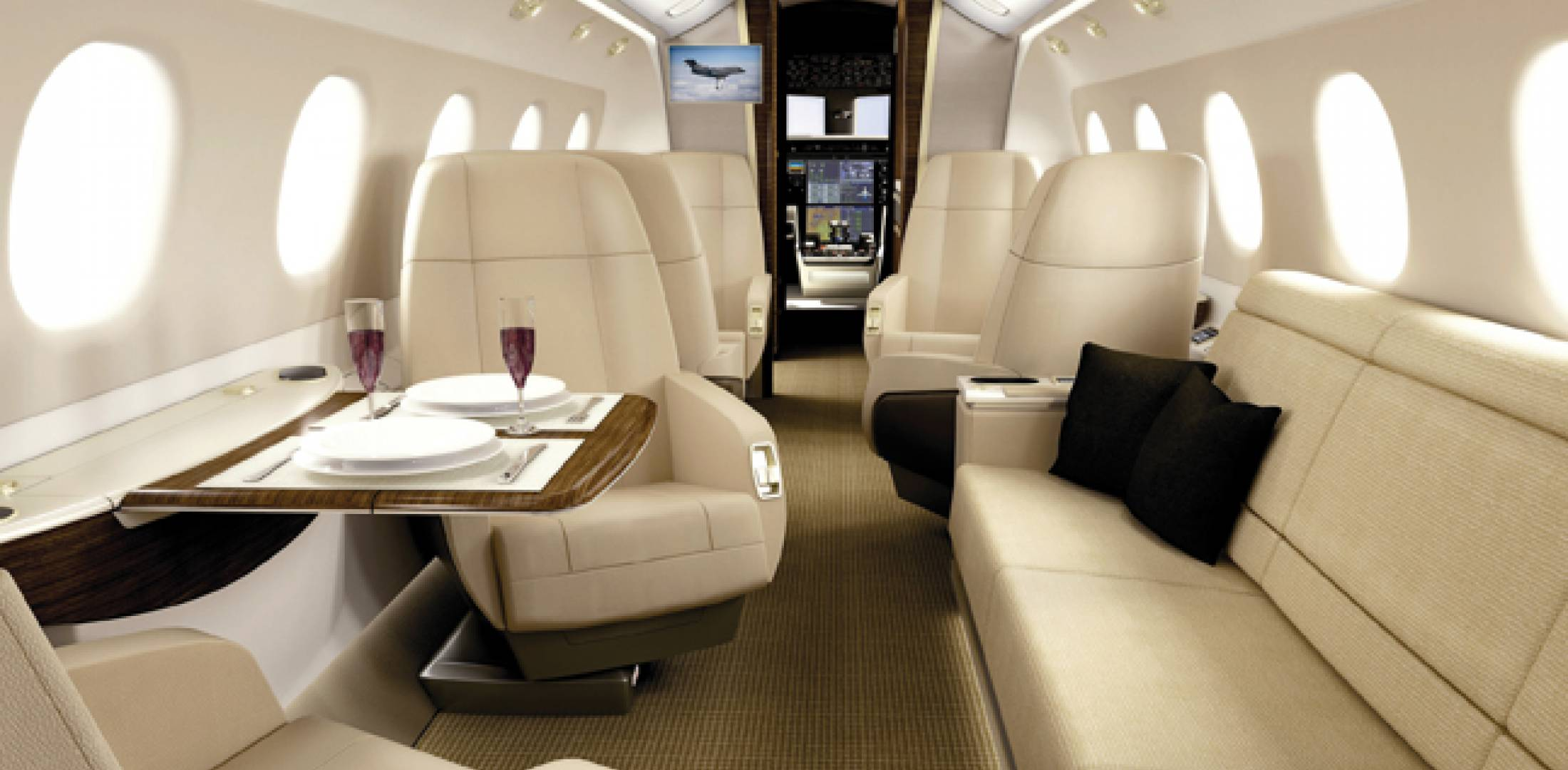 """In designing the Legacy 500 interior, Embraer had several focus groups come in and spend an entire night in the cabin mockup, """"sleeping, eating, using the lavatory,"""" all to see if the issues they had noted had been addressed properly."""