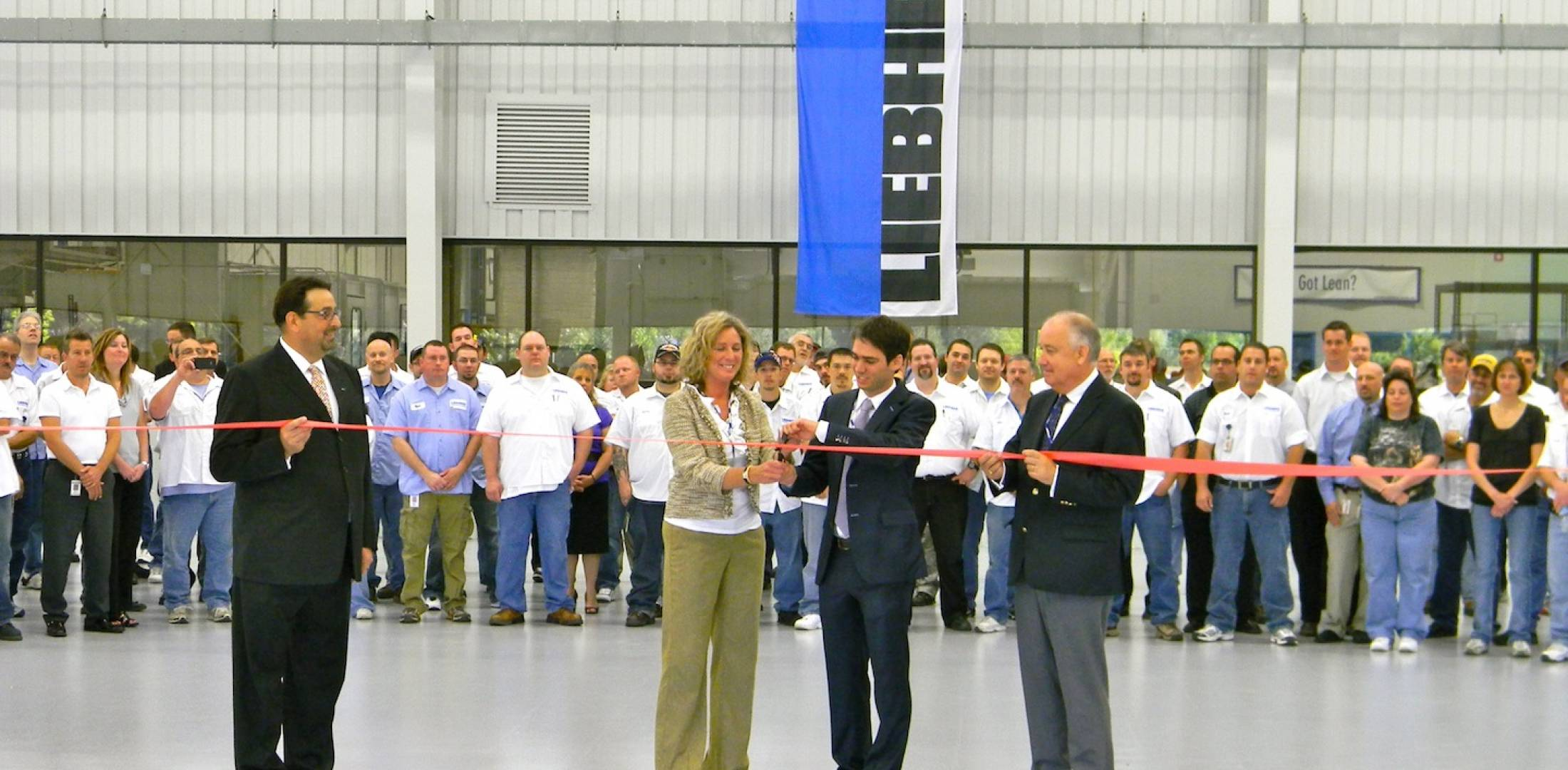 Liebherr-Aerospace Saline staged a ribbon-cutting ceremony for its new expansion on June 14.