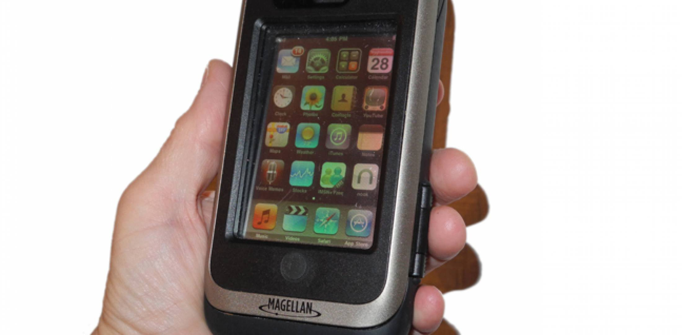 Magellan's ToughCase  gives the iPod GPS capability.