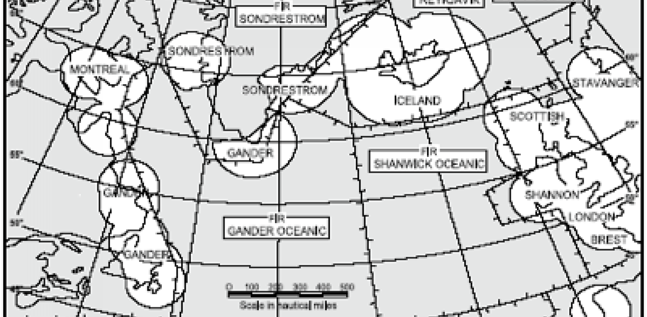 VHF coverage, North Atlantic, 10,000 feet