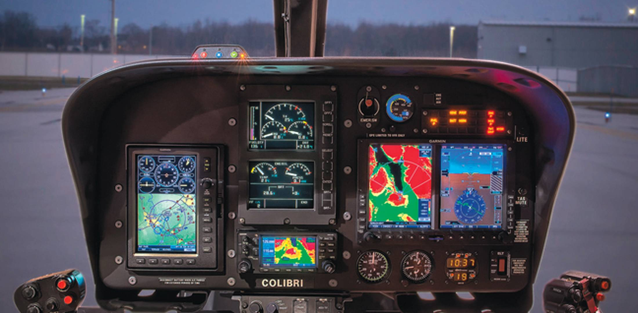 Kitchener Aero Avionics recently STC'd a  glass-cockpit option for the Eurocopter EC120.