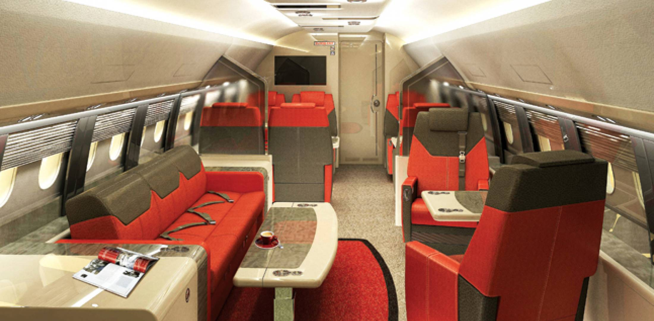Through their trade association, AKAI, Russian aircraft interior specialists Kvand, Vemina-Aviaprestige and Aerostyle have jointly submitted proposed cabin designs for the new Sukhoi Business Jet being developed from the Russian airframer's Superjet SSJ100 airliner.