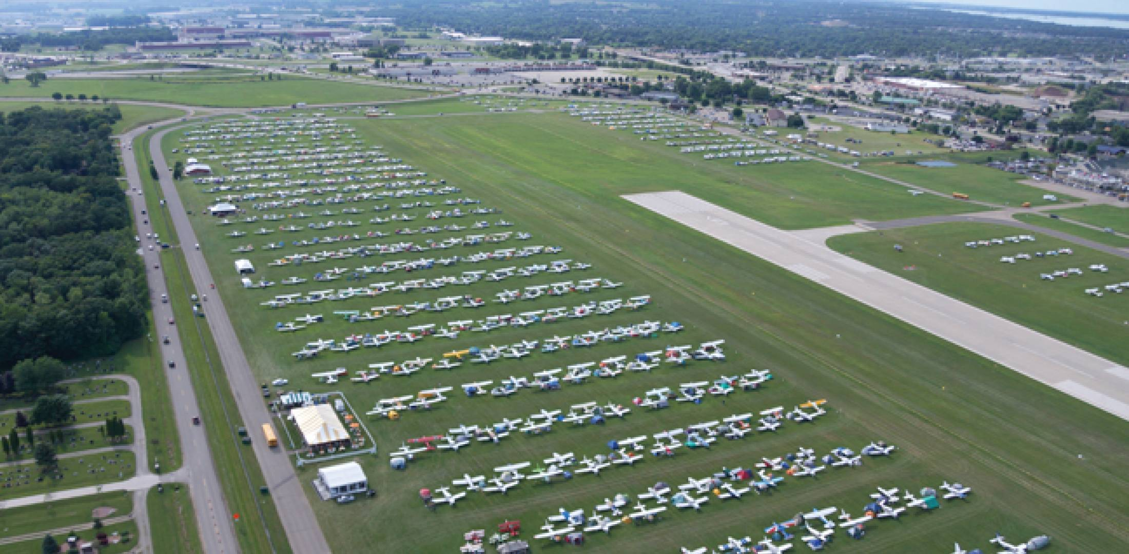 The North 40 parking/camping area filled up quickly, and excellent weather, amazing attractions and thousands of aircraft made this year's AirVenture something special.