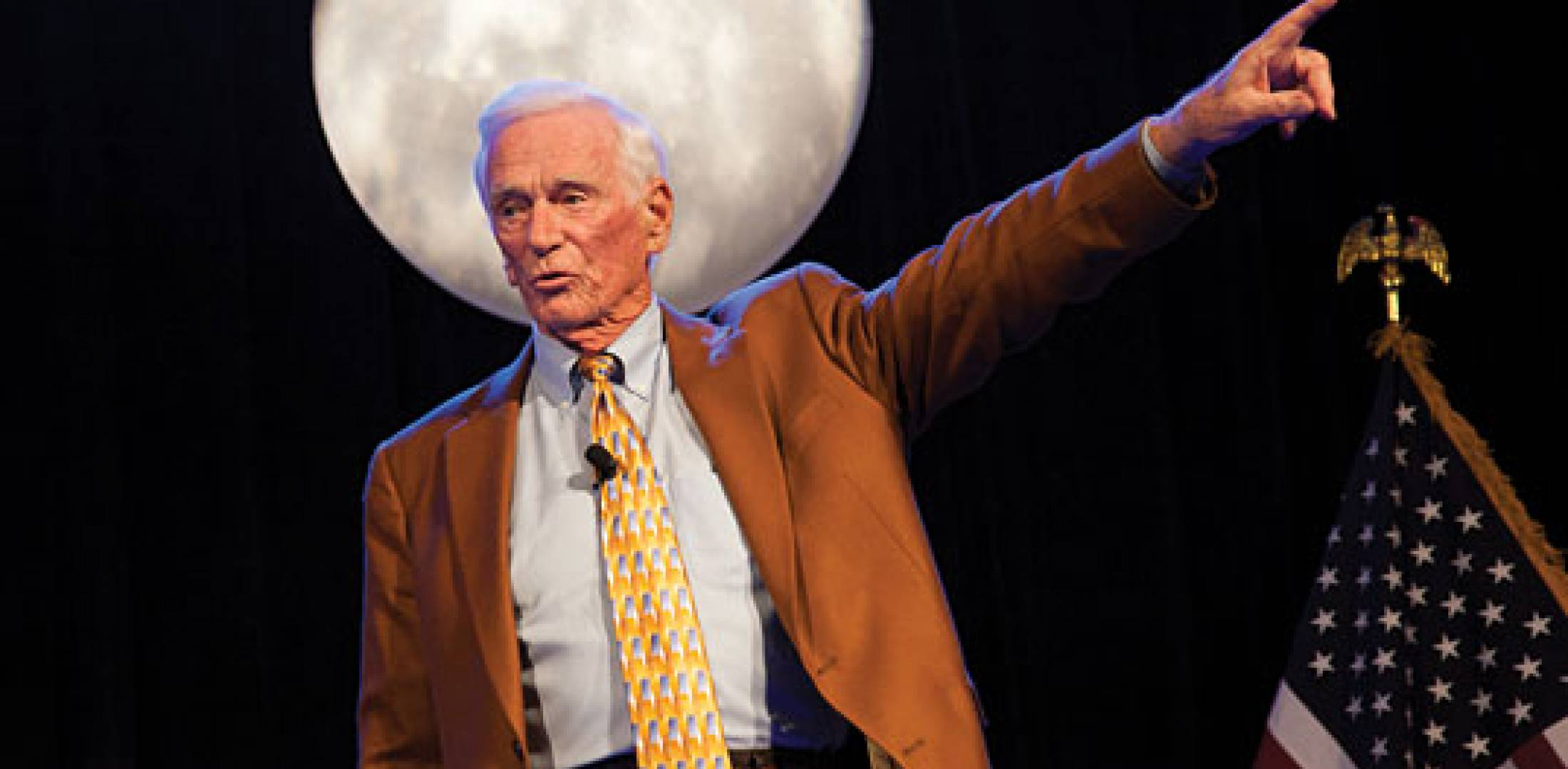 Gene Cernan, the last man on the Moon.