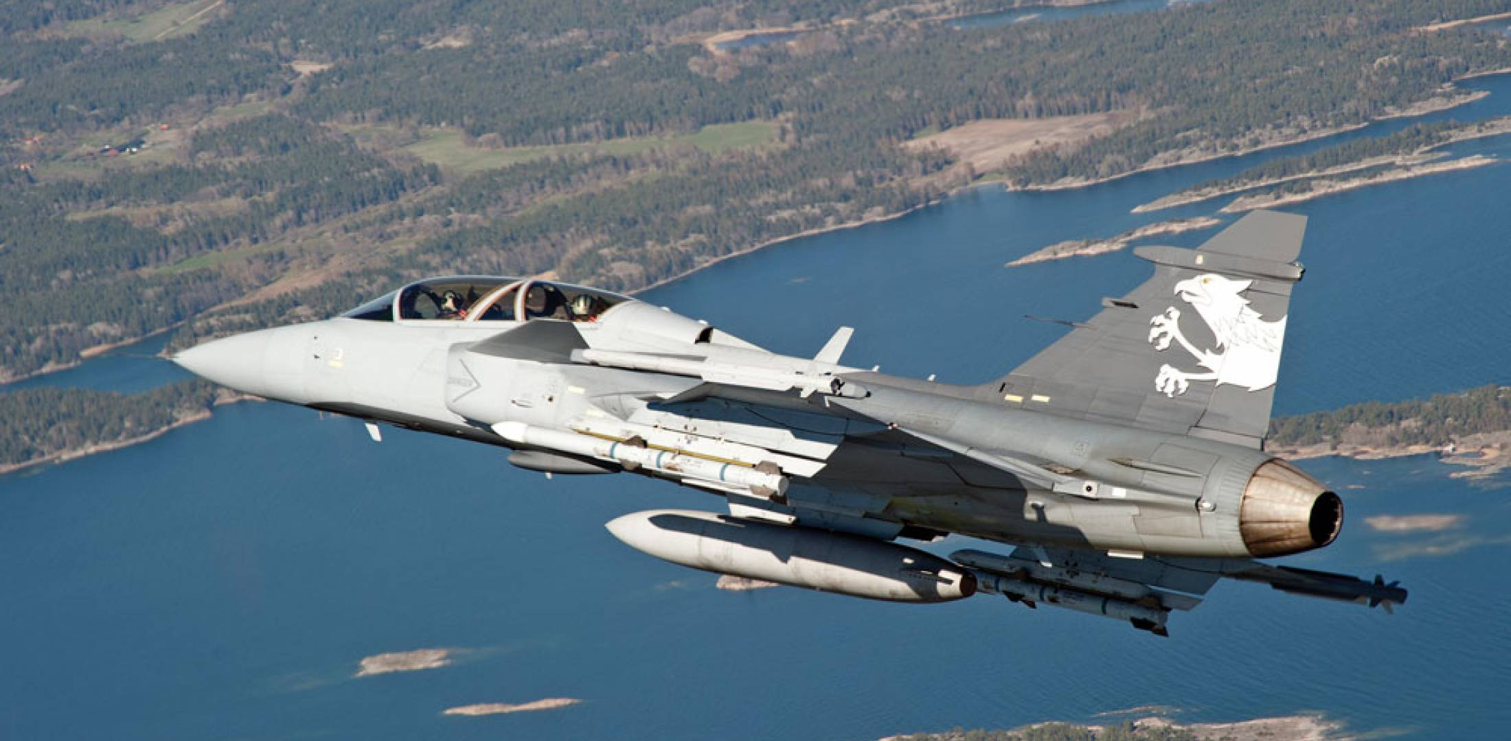 The Gripen E/F demonstrator in a test flight over Sweden last May, with a Swiss air force pilot onboard. In the competition among the three contending fighters, the Swiss chose the Swedish jet for its New Fighter Aircraft over its larger European rivals, the Eurofighter and the Rafale.