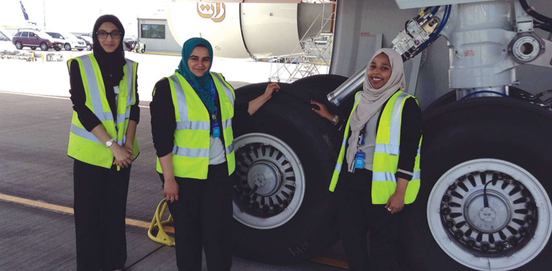 Student interns from the UAE visit Seattle during delivery of a Boeing 777 to Emirates Airline, as part of Boeing's capstone college-level programs.