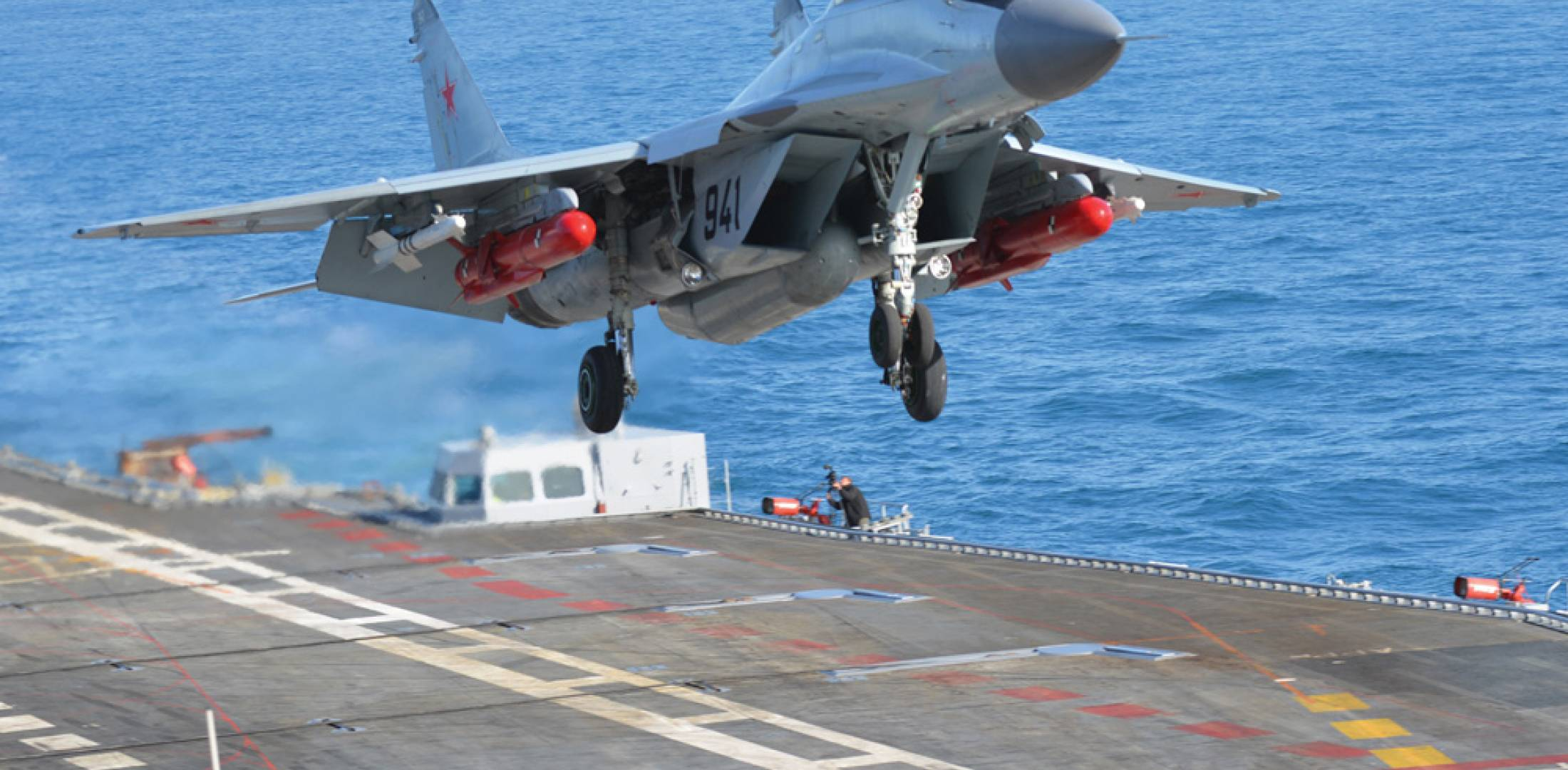 Having completed flight trials from the ship's deck, Russia's MiG now turns its attention to training Indian pilots in ship-borne ops