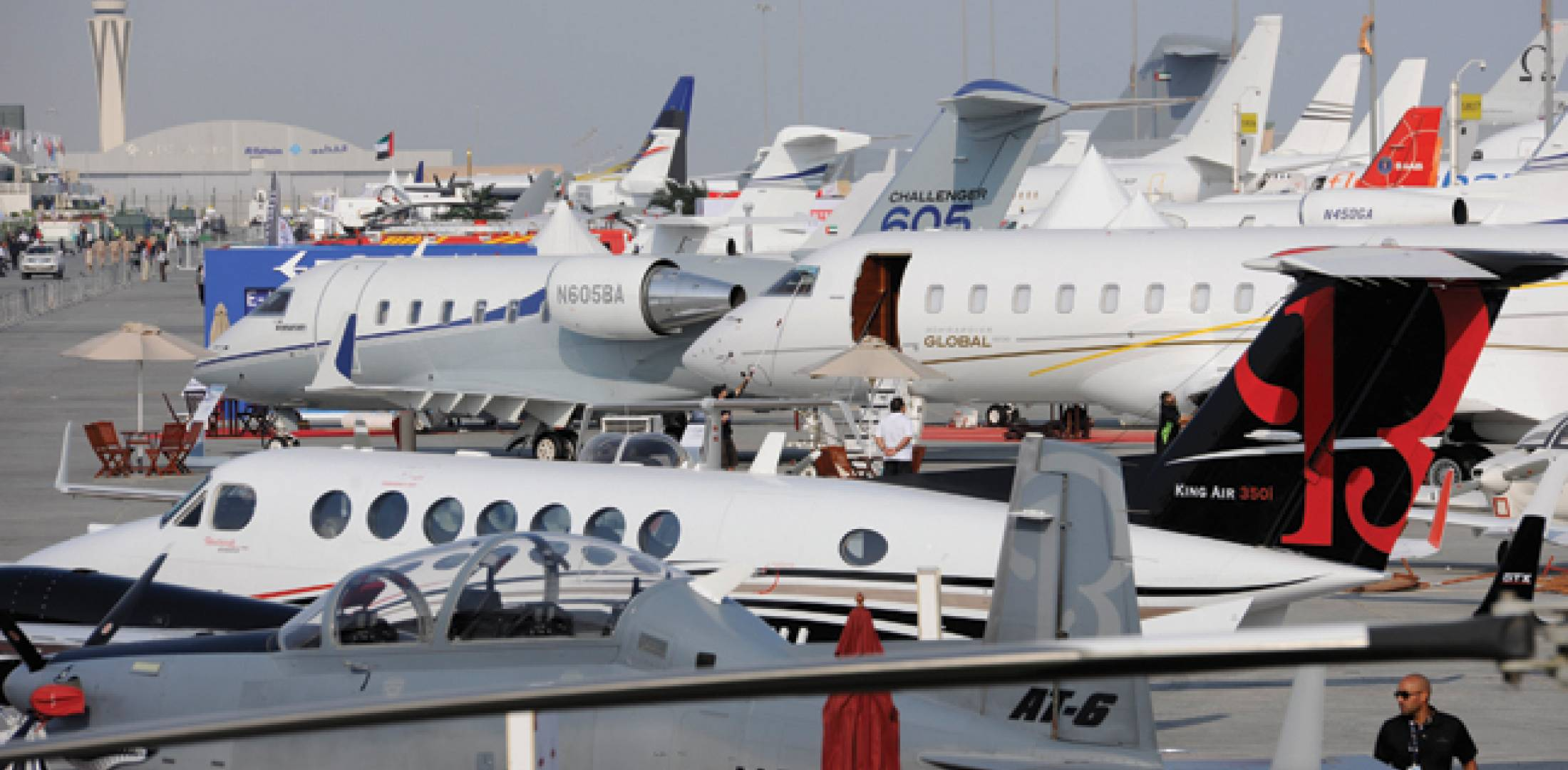 The biennial Dubai Airshow made the move from Dubai International Airport to the new Al Maktoum International Airport at Dubai World Central last year. The new purpose-built facility offered plenty of static display space. The DWC site offers exactly the sort of benefts business aviation looks for: no slot restrictions, giving operators the freedom they need, and proximity to town.