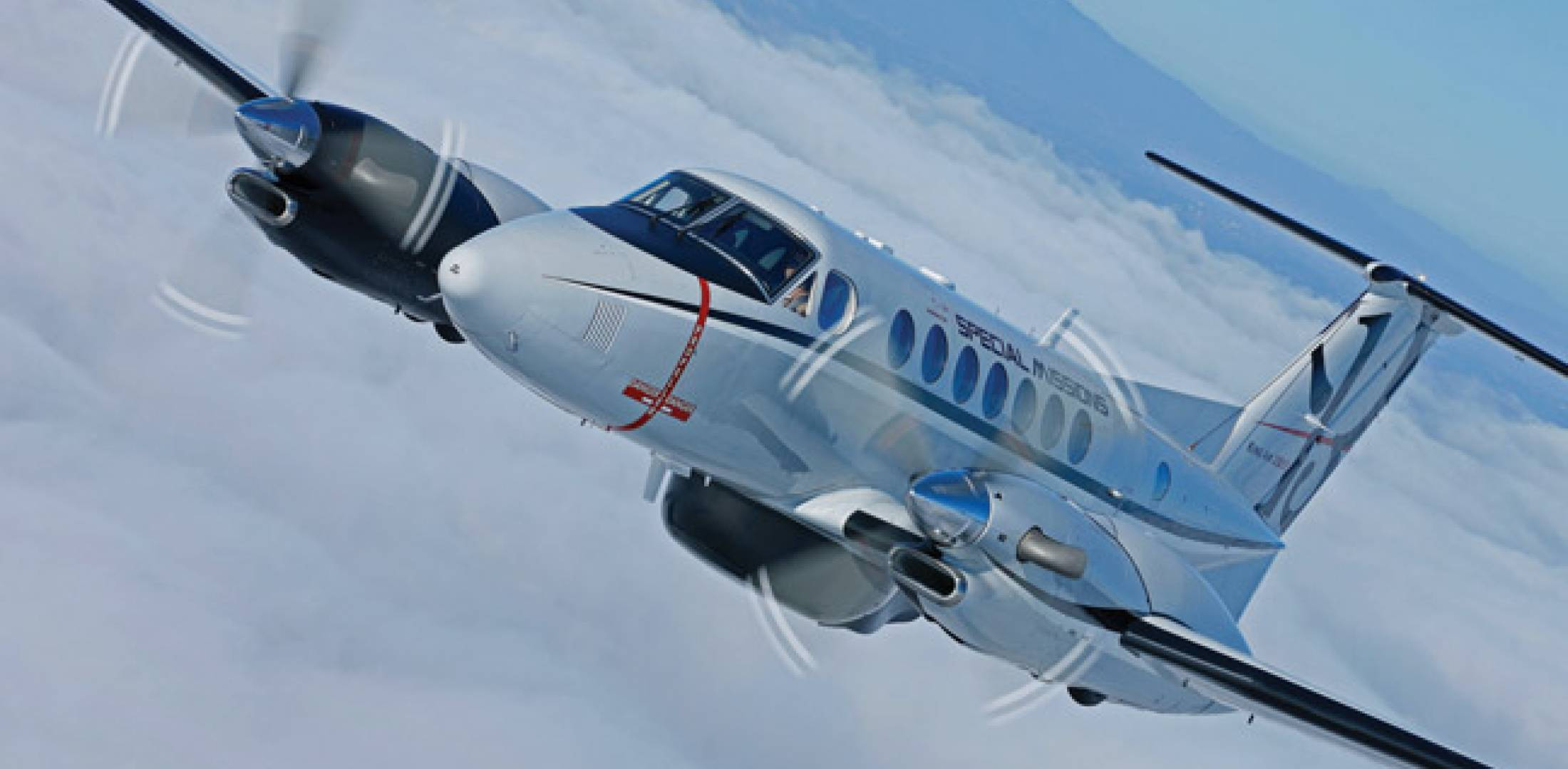 The King Air 350ER (extended range) special-mission variant has an endurance of seven to 10 hours, depending on the configuration.