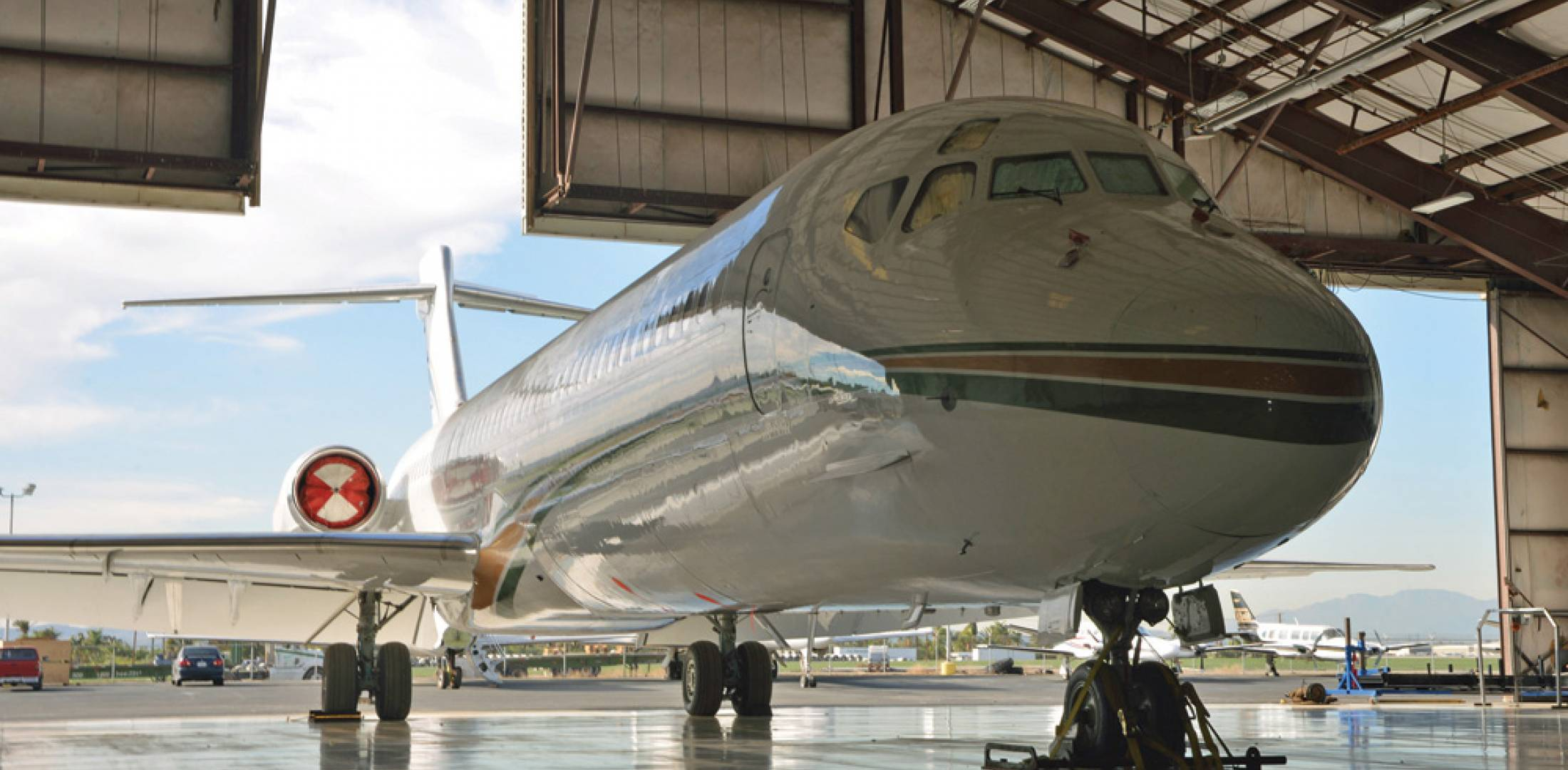 Threshold seeks to be a one-stop shop for its maintenance customers, so it offers interiors and completions services that can be performed during the aircraft's maintenance downtime.
