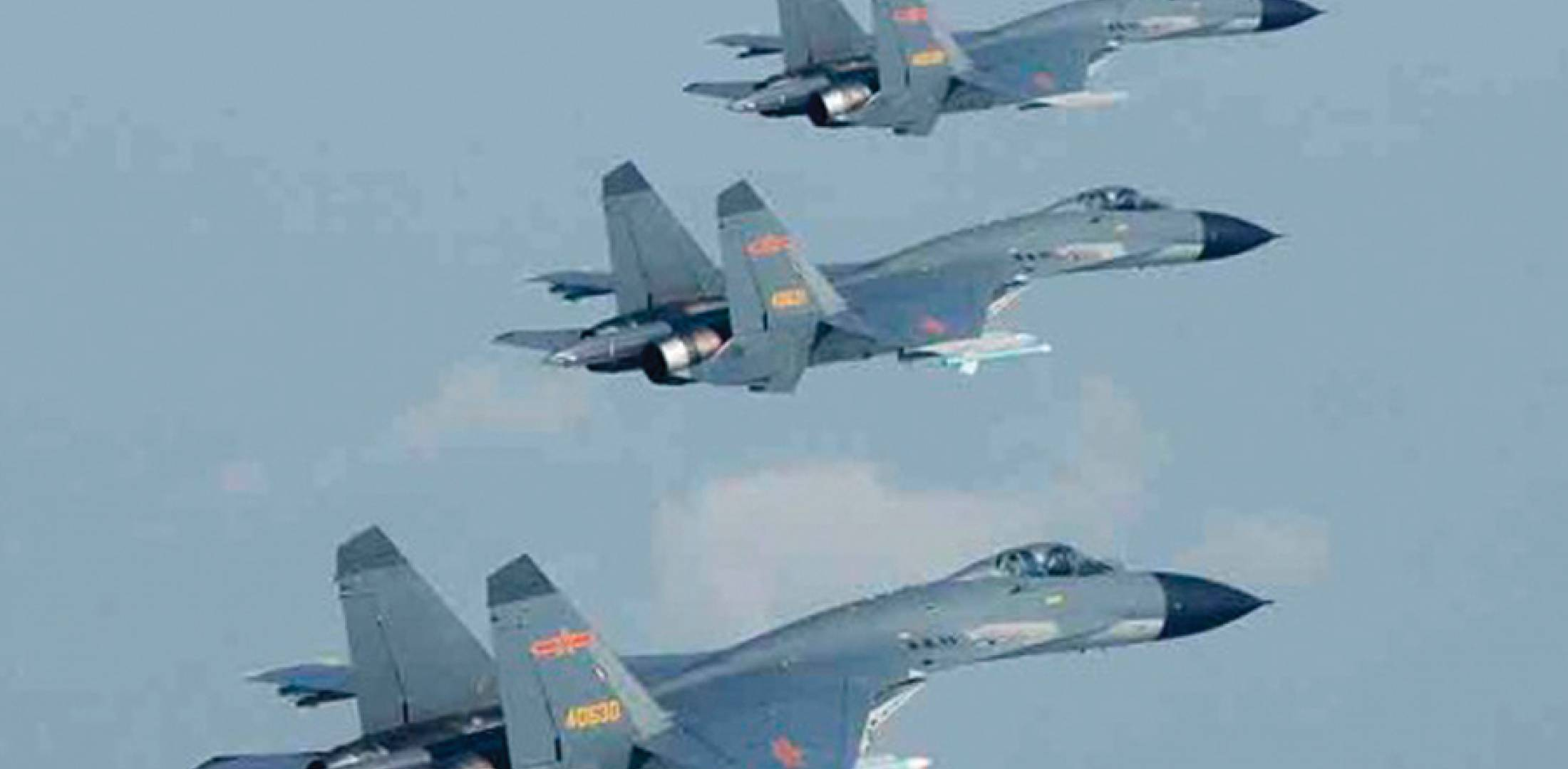 The J-11B is now in widespread service with both the PLAAF and PLANAF, and current production aircraft like these are powered by Chinese engines. The single-seaters are supported by two-seat J-11BS aircraft (via Chinese internet).