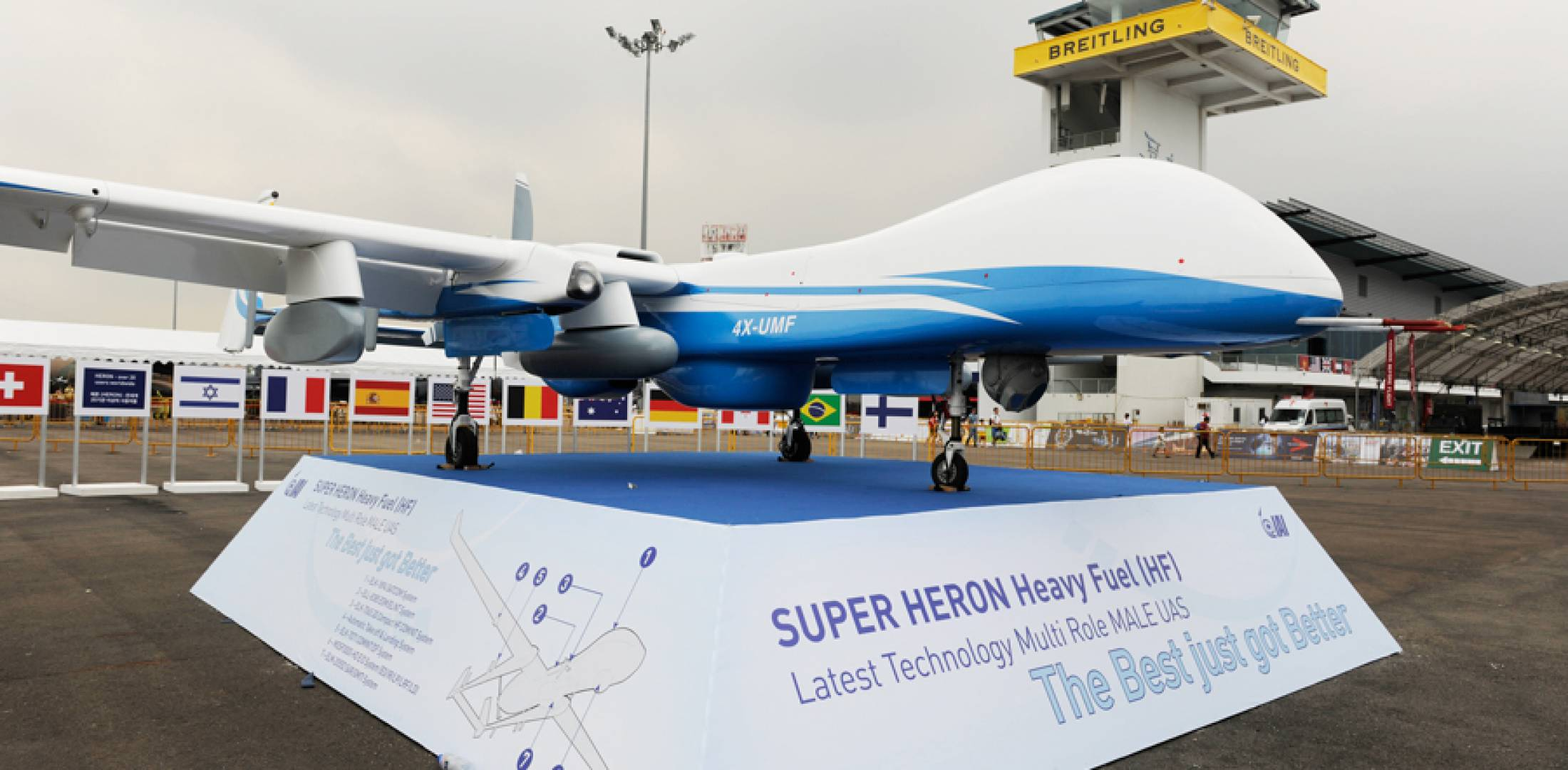 IAI has launched the Super Heron UAV, a reworking of the popular and combat-proven Heron 1, operated by more than 20 countries. The vehicle is powered by a heavy-fuel engine, and has aerodynamic enhancements such as winglets.