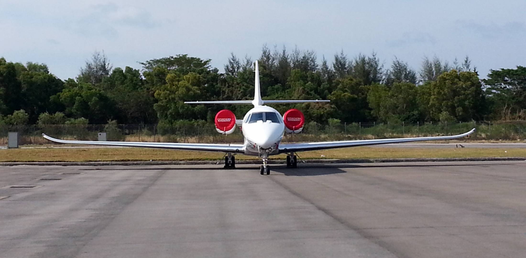This Cessna Citation Sovereign was the first business jet to arrive at the 2014 Singapore Air Show static display.