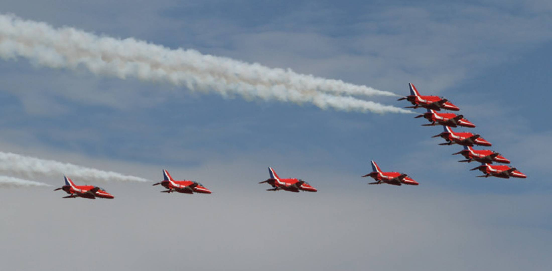 Red Arrows at Farnborough