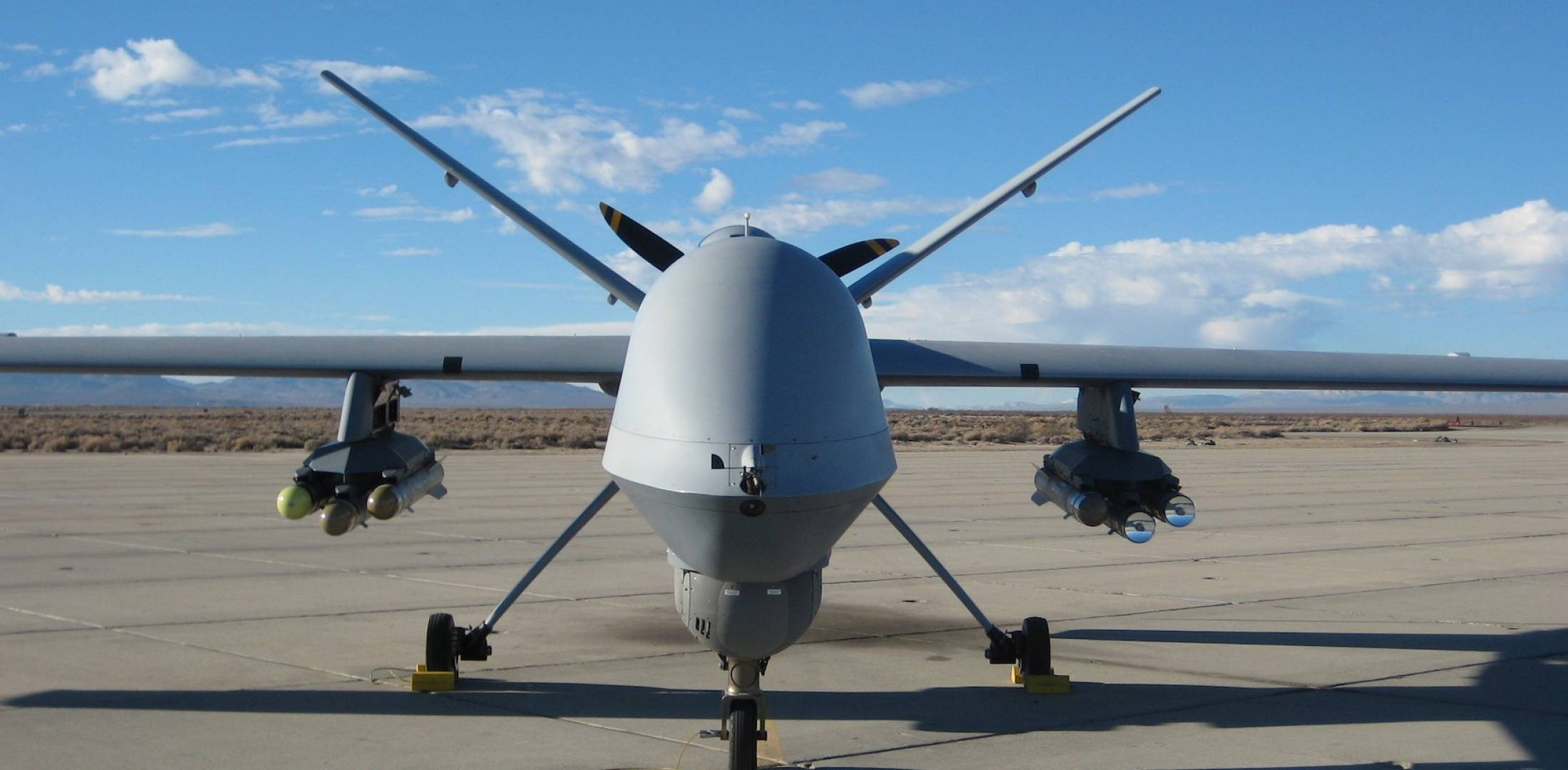 MQ-9 Reaper fitted with dual-mode Brimstone missiles