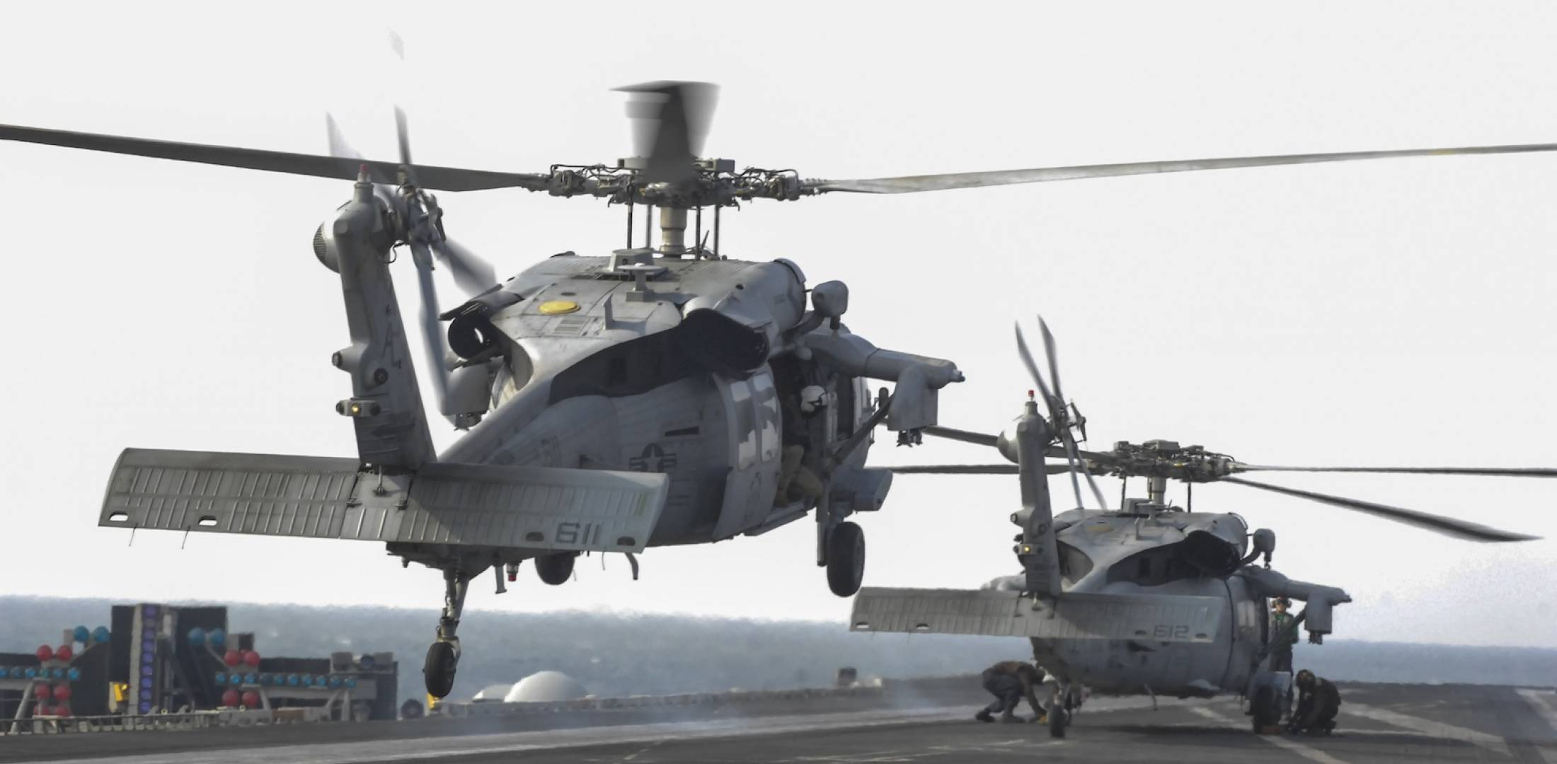 U.S. Navy MH-60S Seahawk helicopters