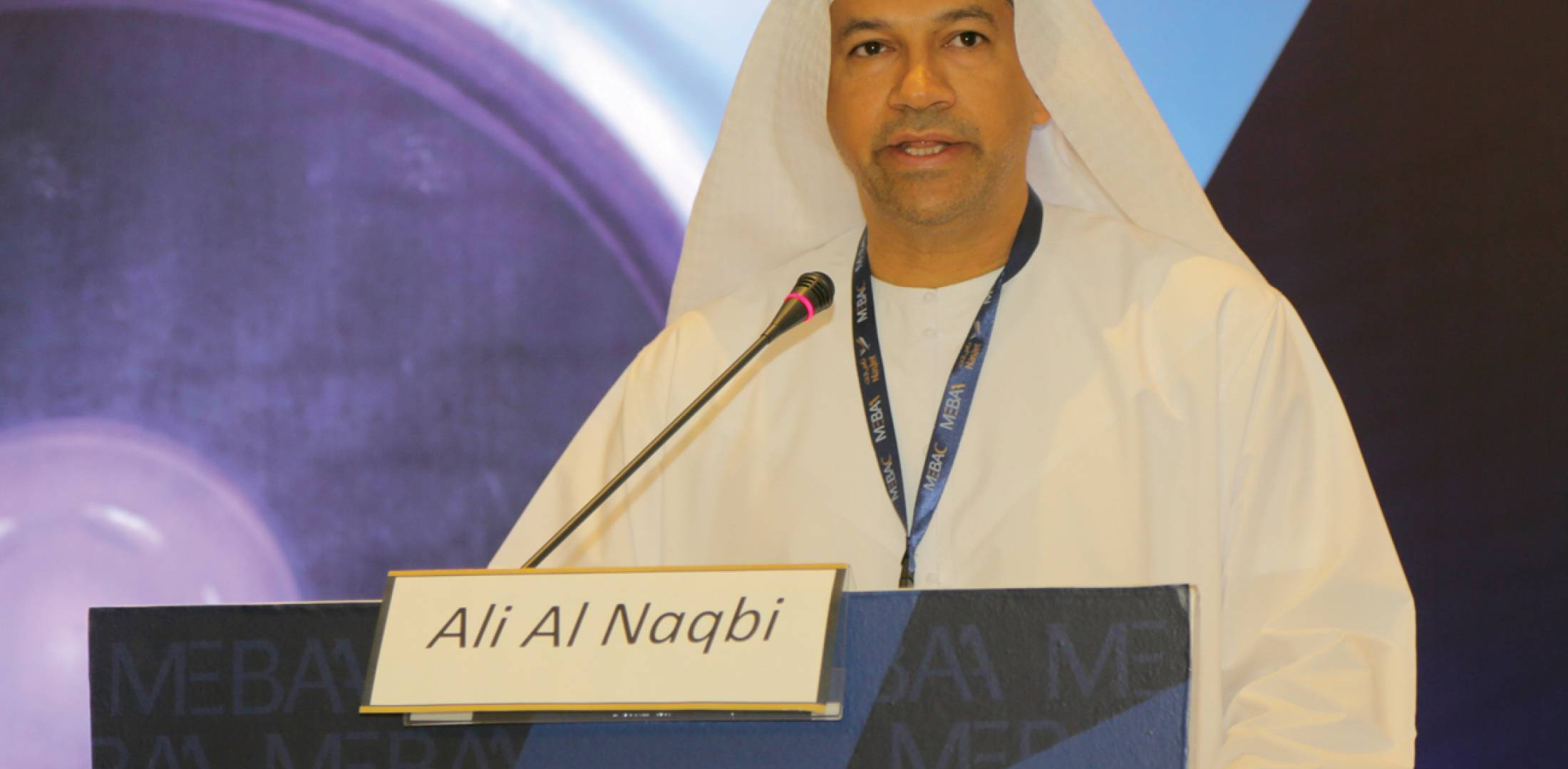 MEBAA chairman Ali Al Naqbi has played a key role in dealing with regional business aviation issues.  (Photo: Peter Shaw-Smith)