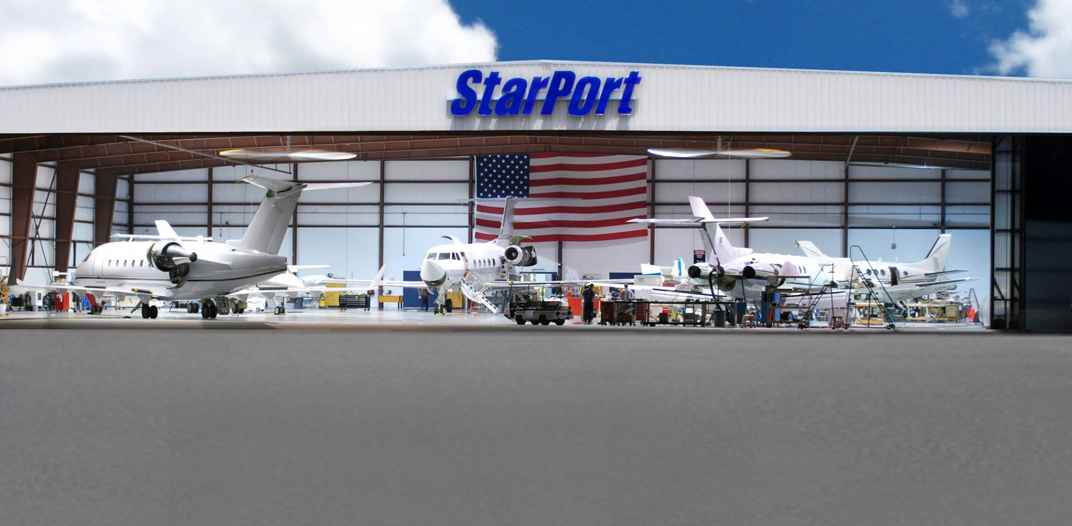 Starport ramp and hangar