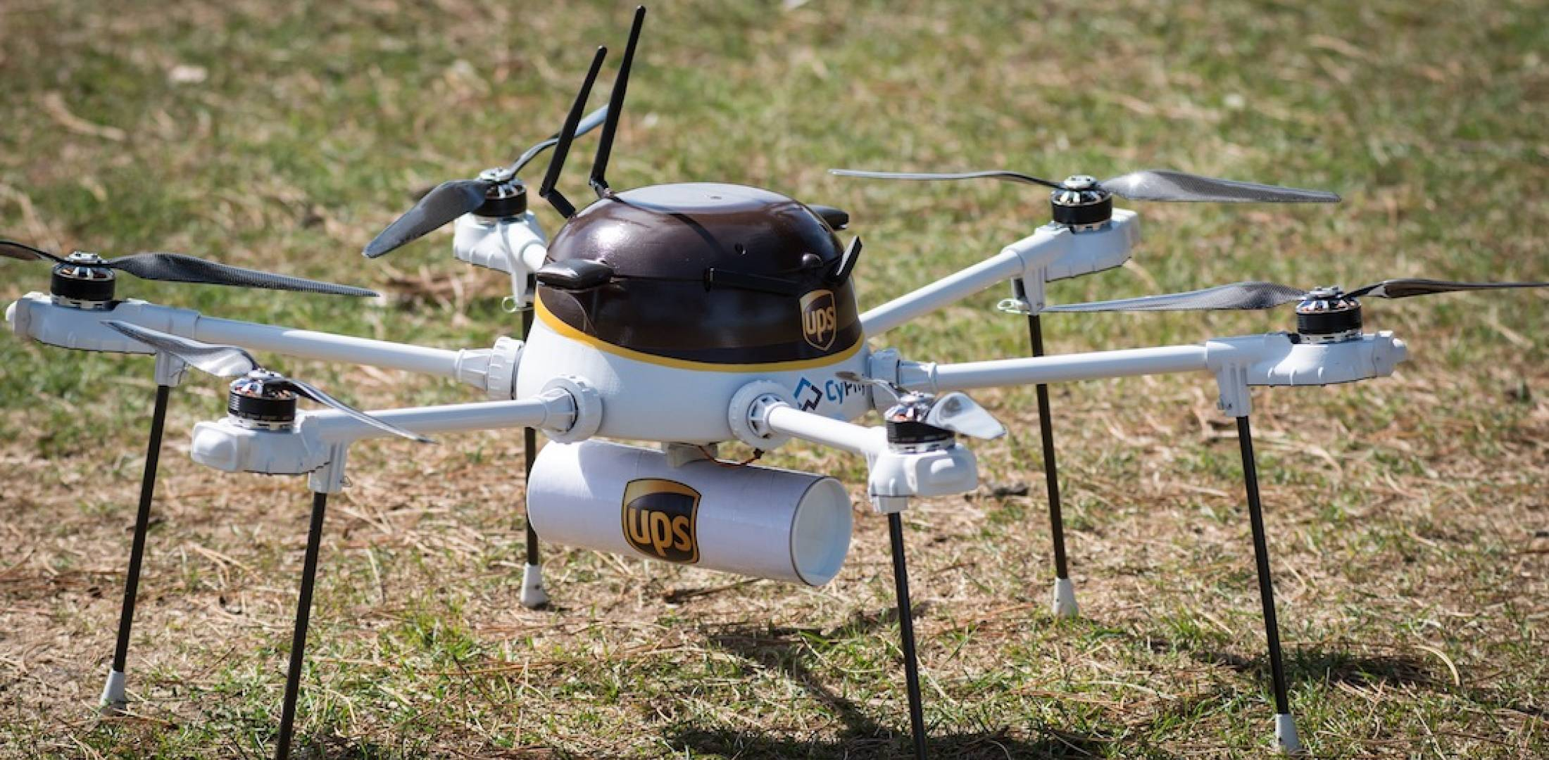 CyPhy Works PARC hexacopter in UPS livery