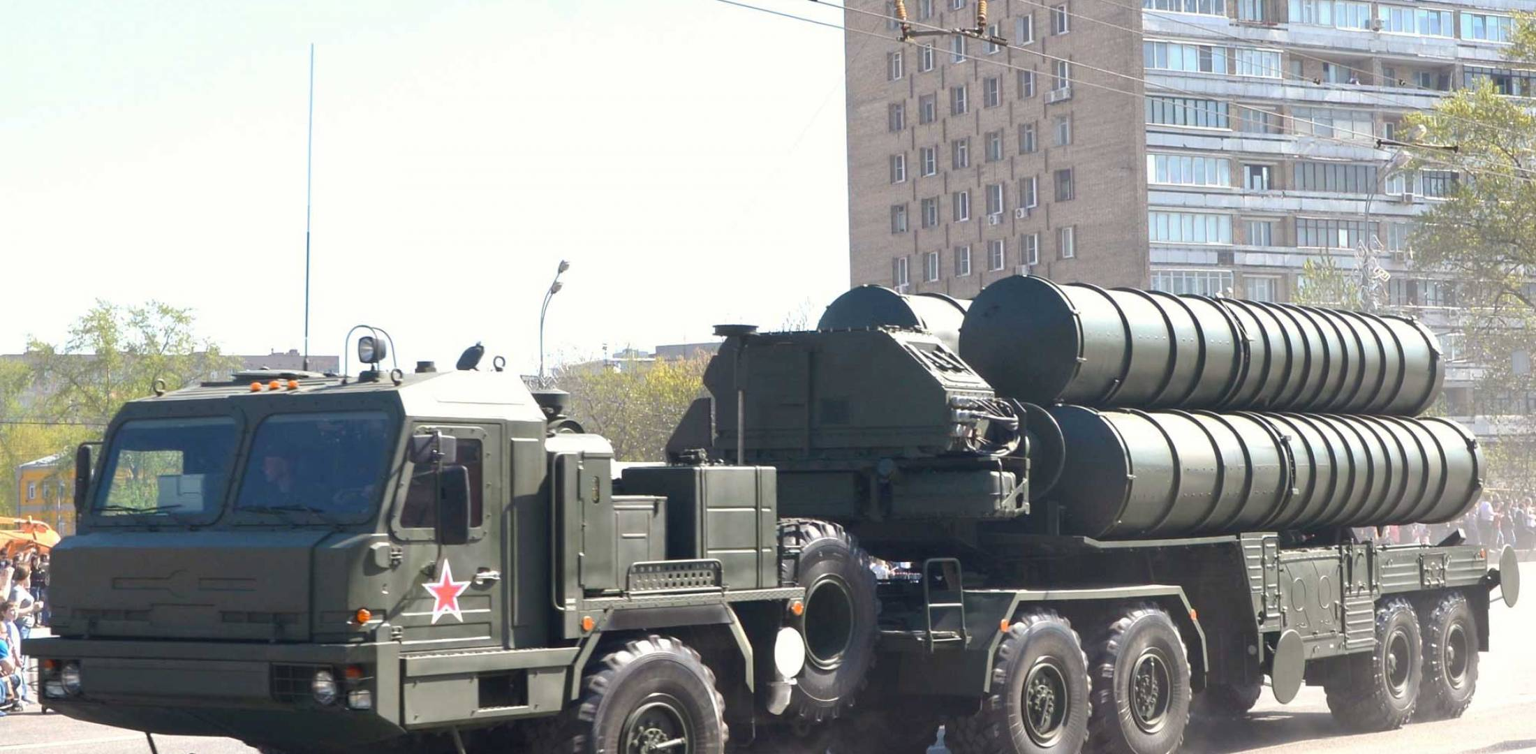 An S-400 SAM launcher