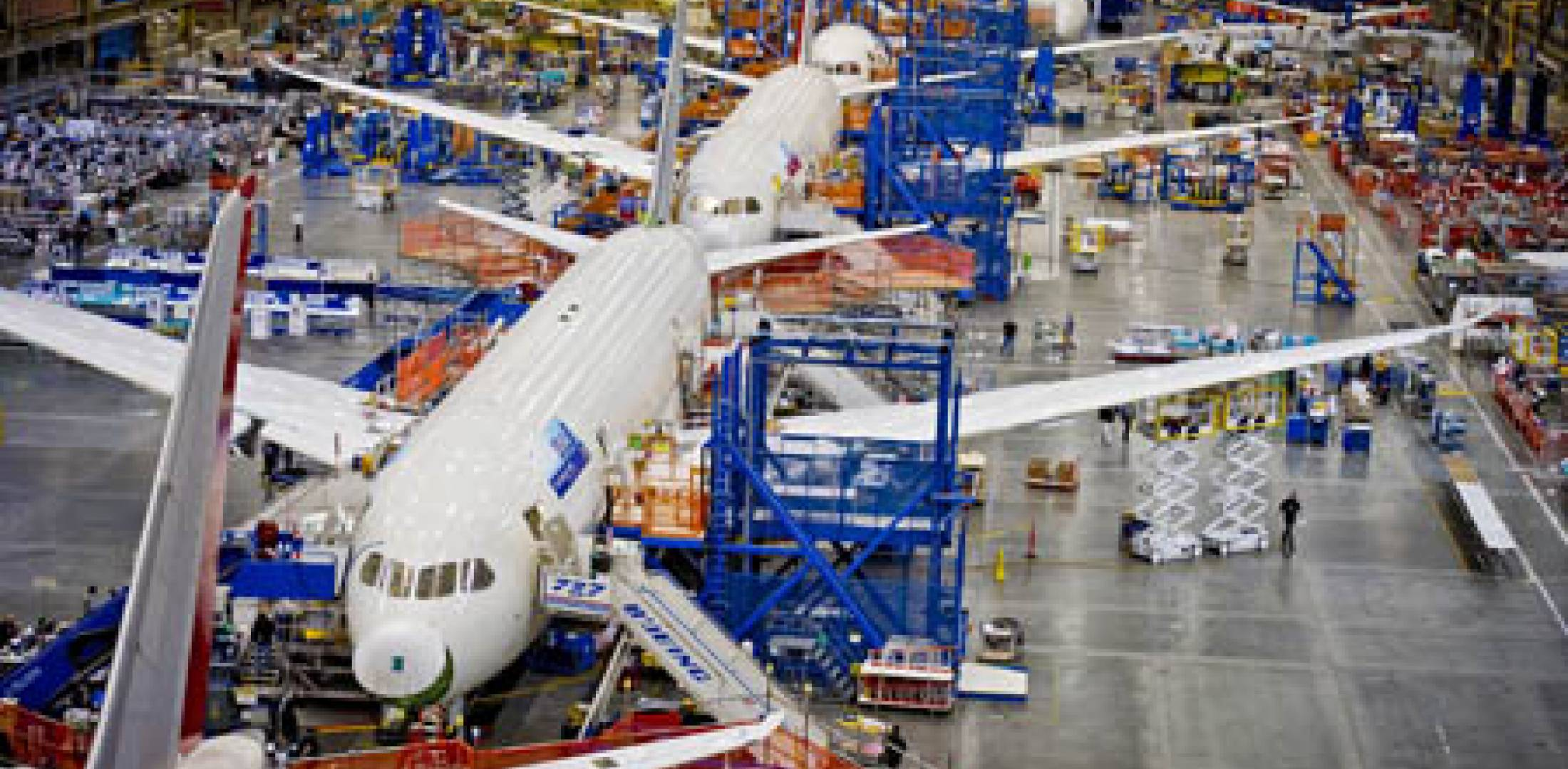 Boeing 787 assembly line